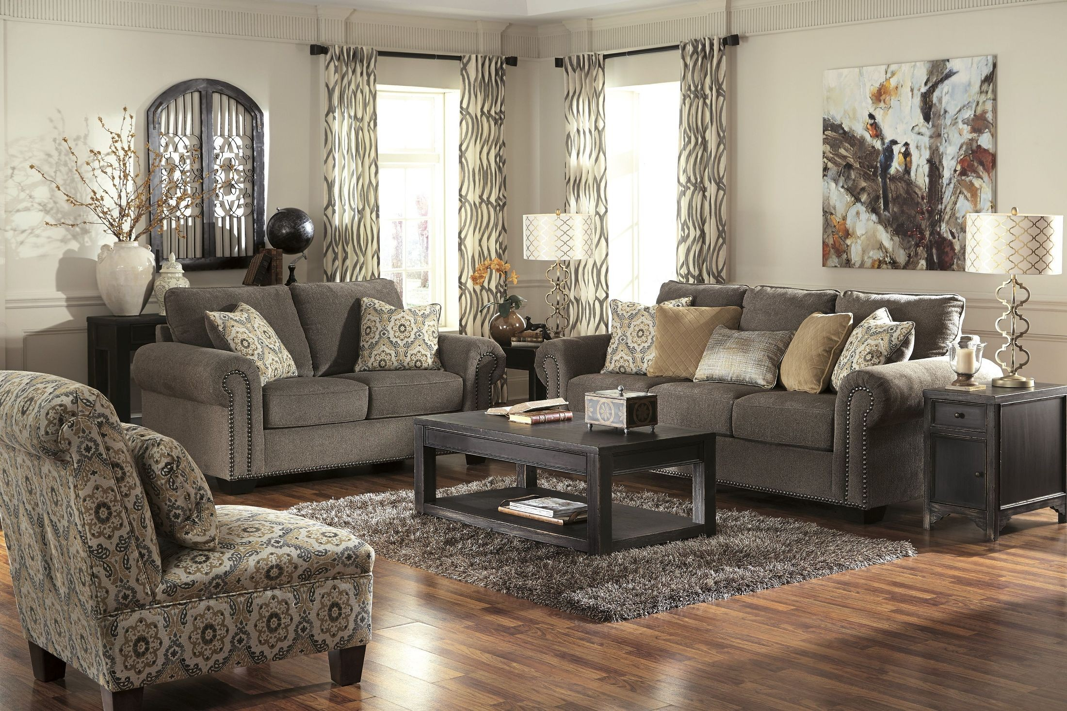 Emelen Alloy Living Room Set From Ashley 45600 35 38