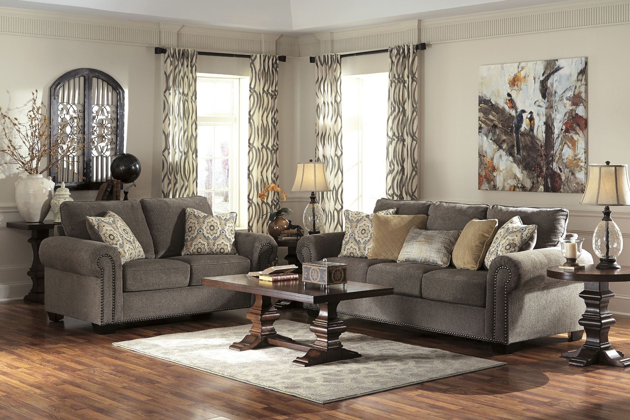 Emelen Alloy Sofa Including Accent Pillows from Ashley