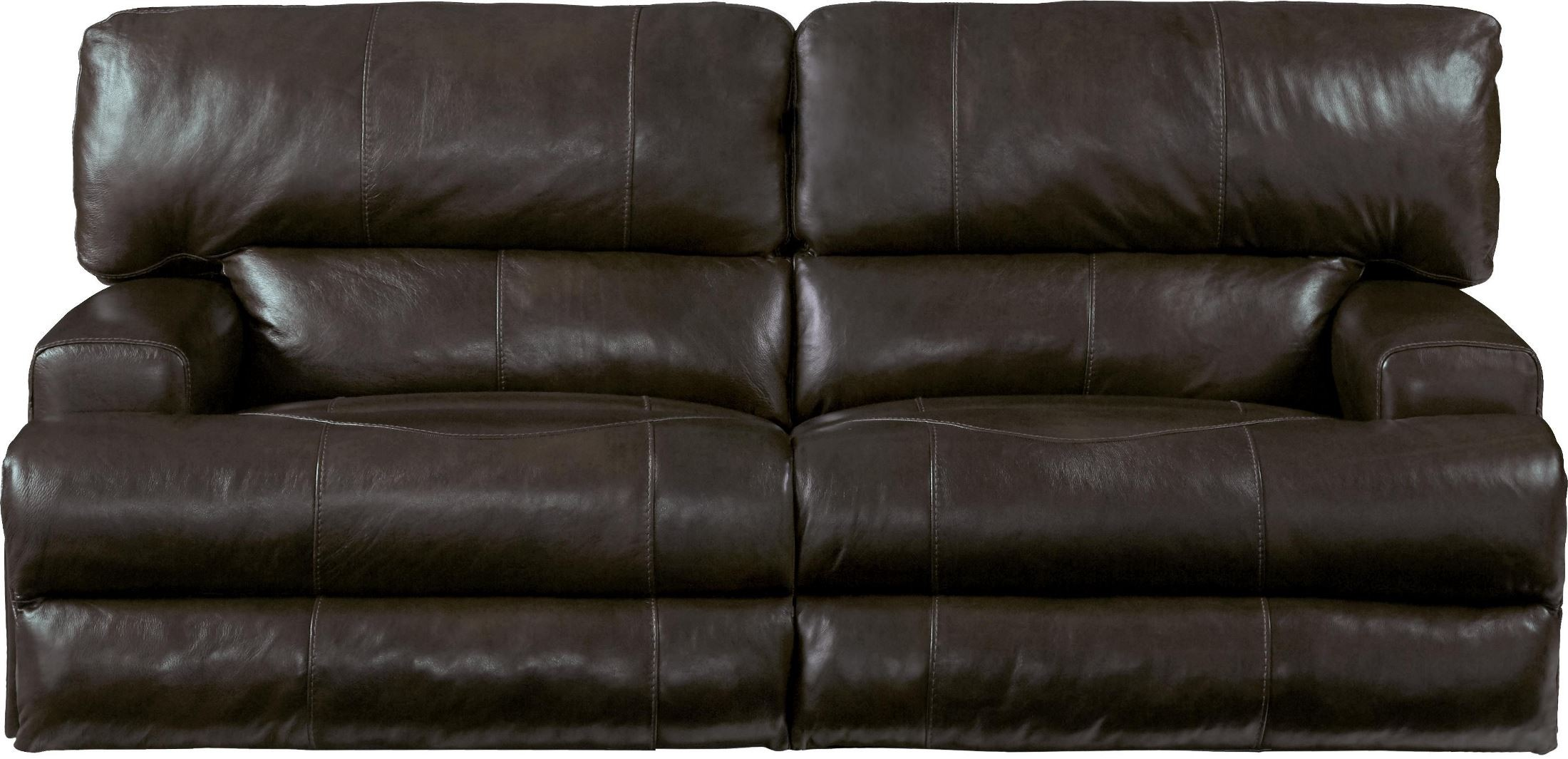 Wembley chocolate lay flat reclining sofa from catnapper for Catnapper cloud nine chaise recliner