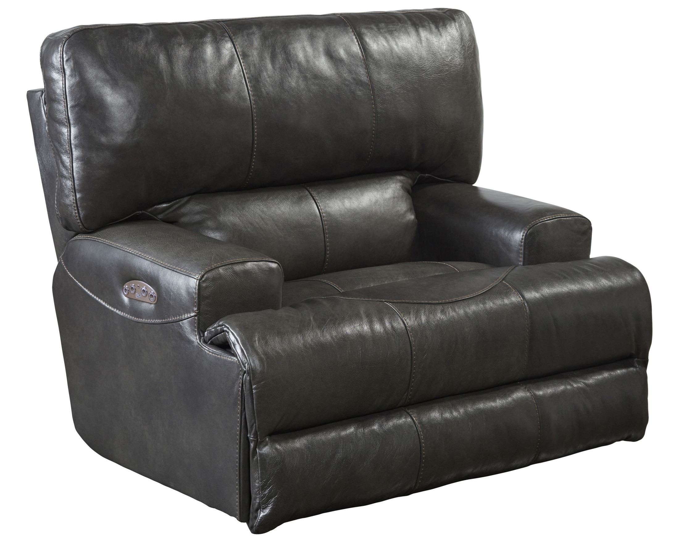 Wembley steel power lay flat recliner from catnapper for Catnapper cloud nine chaise recliner
