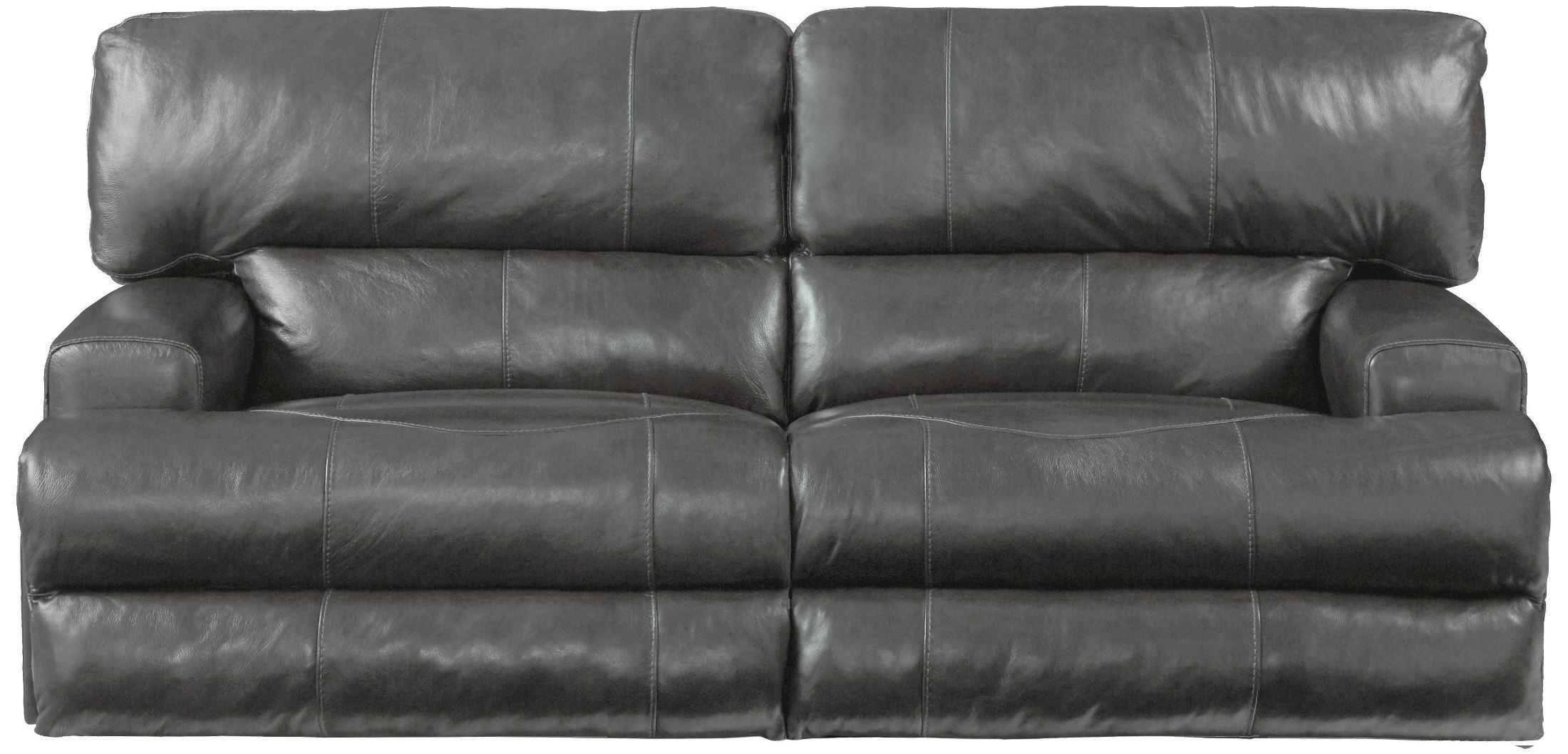 Wembley Steel Power Lay Flat Reclining Sofa From Catnapper