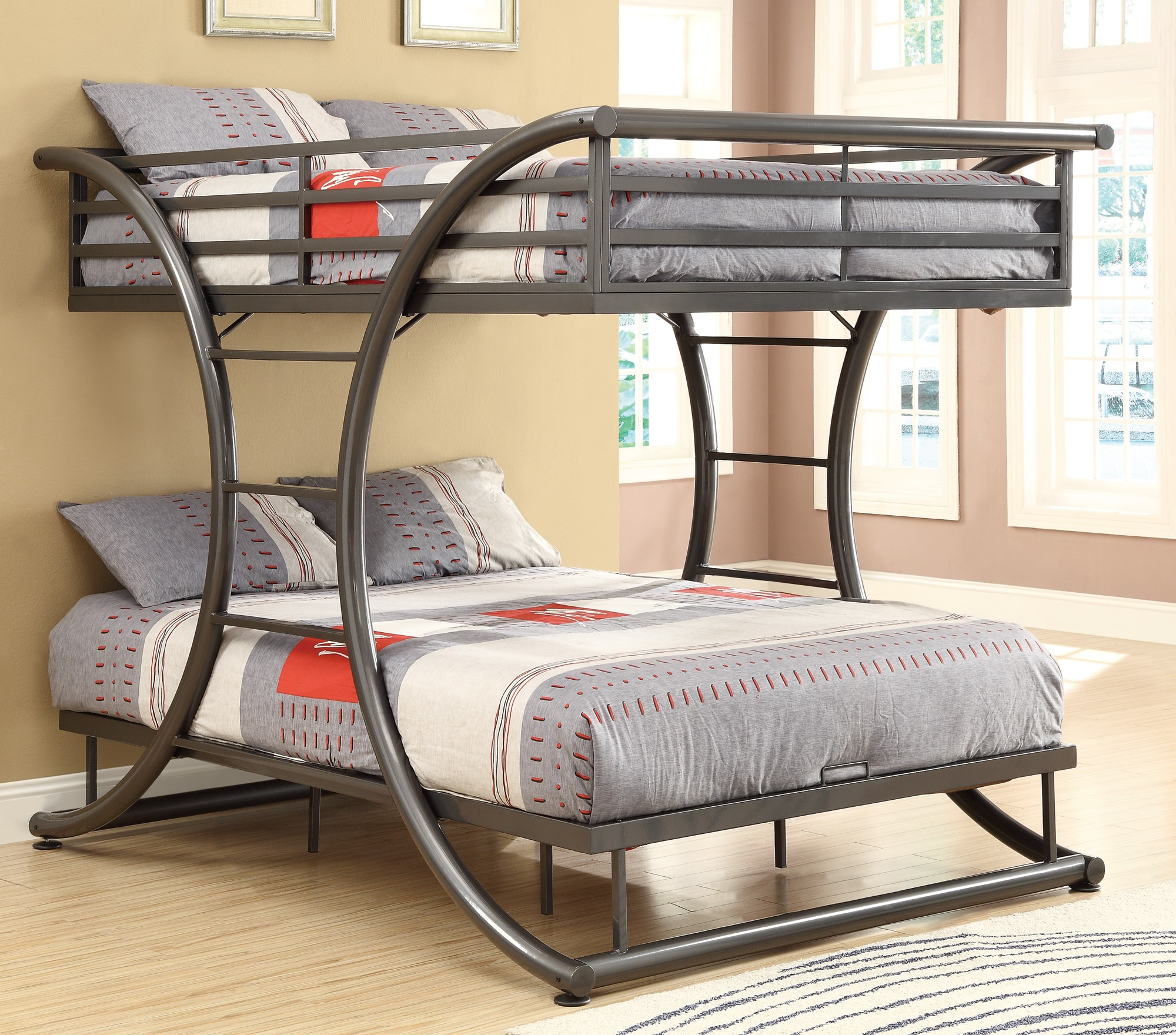 wood bed garden paloma today over free shipping bunk product home full