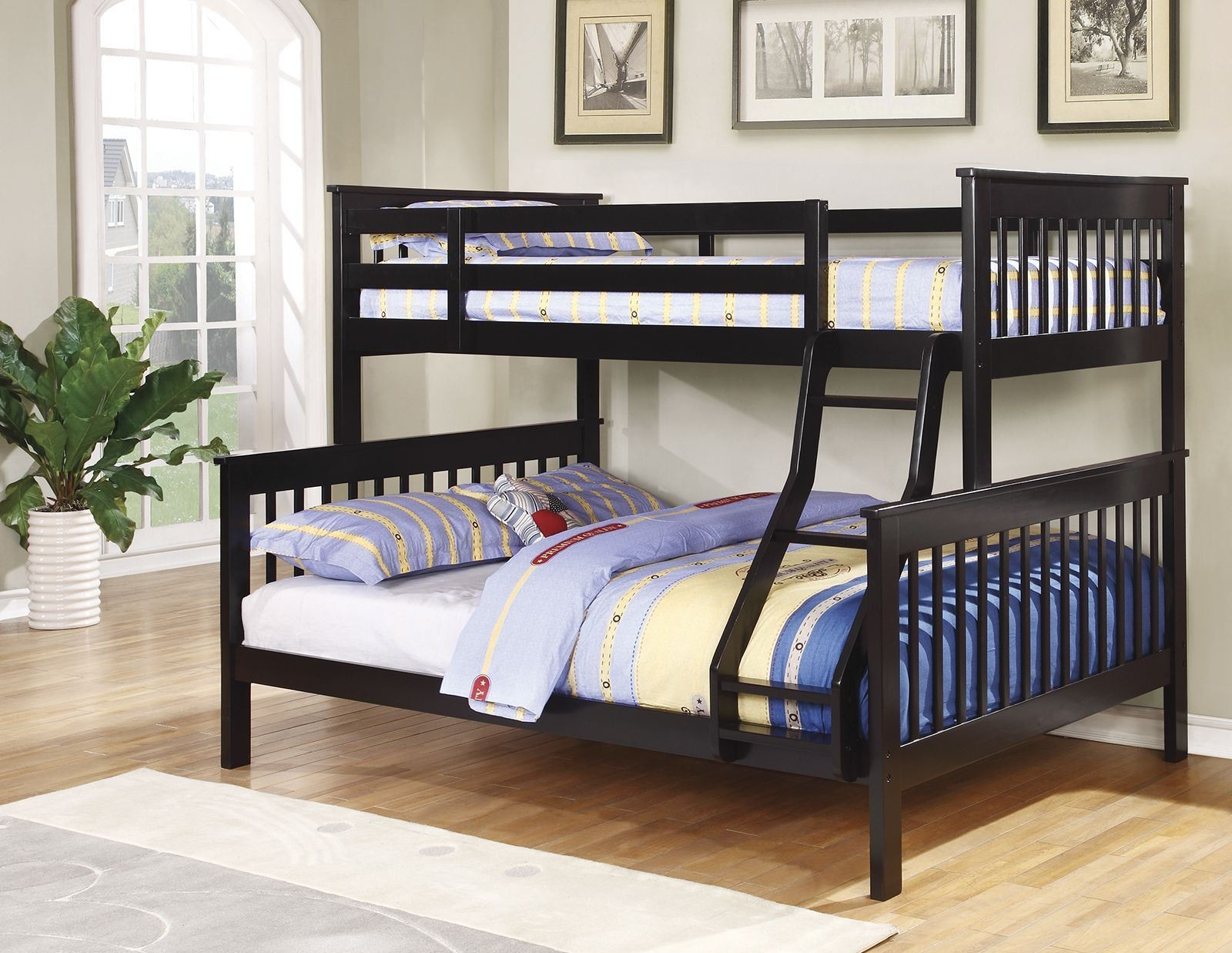 Black Twin Over Full Bunk Bed 460259 Coaster Furniture