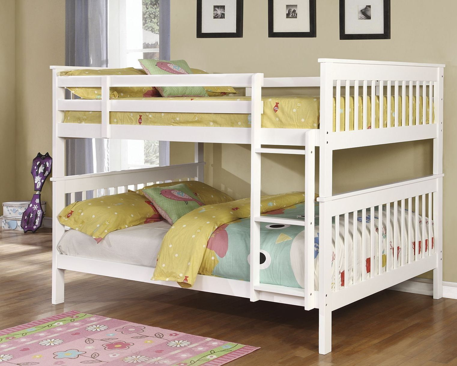 White Full Over Full Bunk Bed From Coaster Coleman Furniture