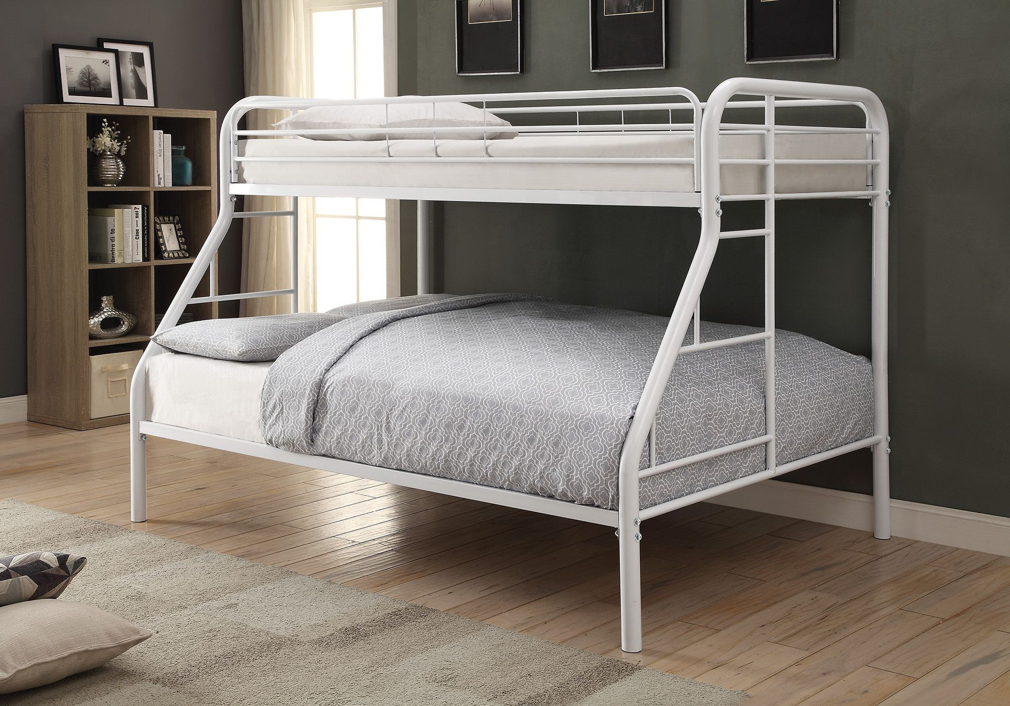 Morgan White Twin Over Full Bunk Bed From Coaster