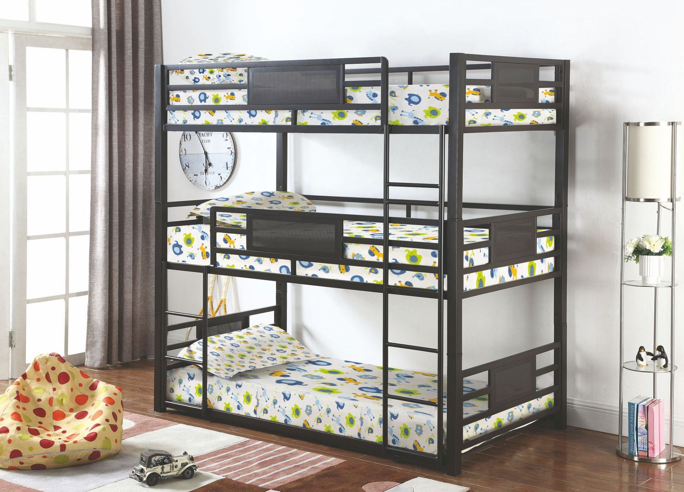 Rogen Gunmetal Twin Triple Bunk Bed 460394t Coaster