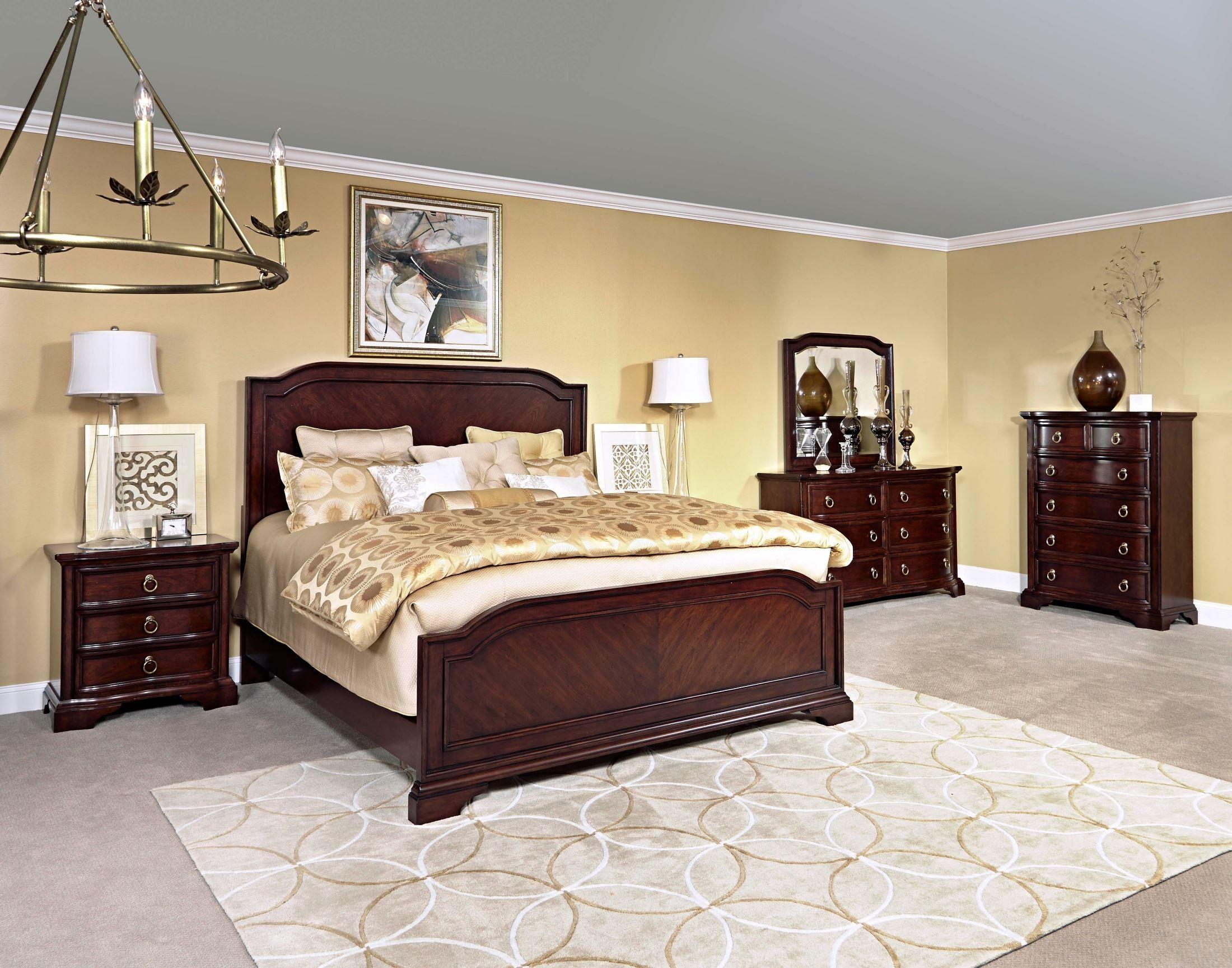elaina rustic cherry panel bedroom set from broyhill 4640