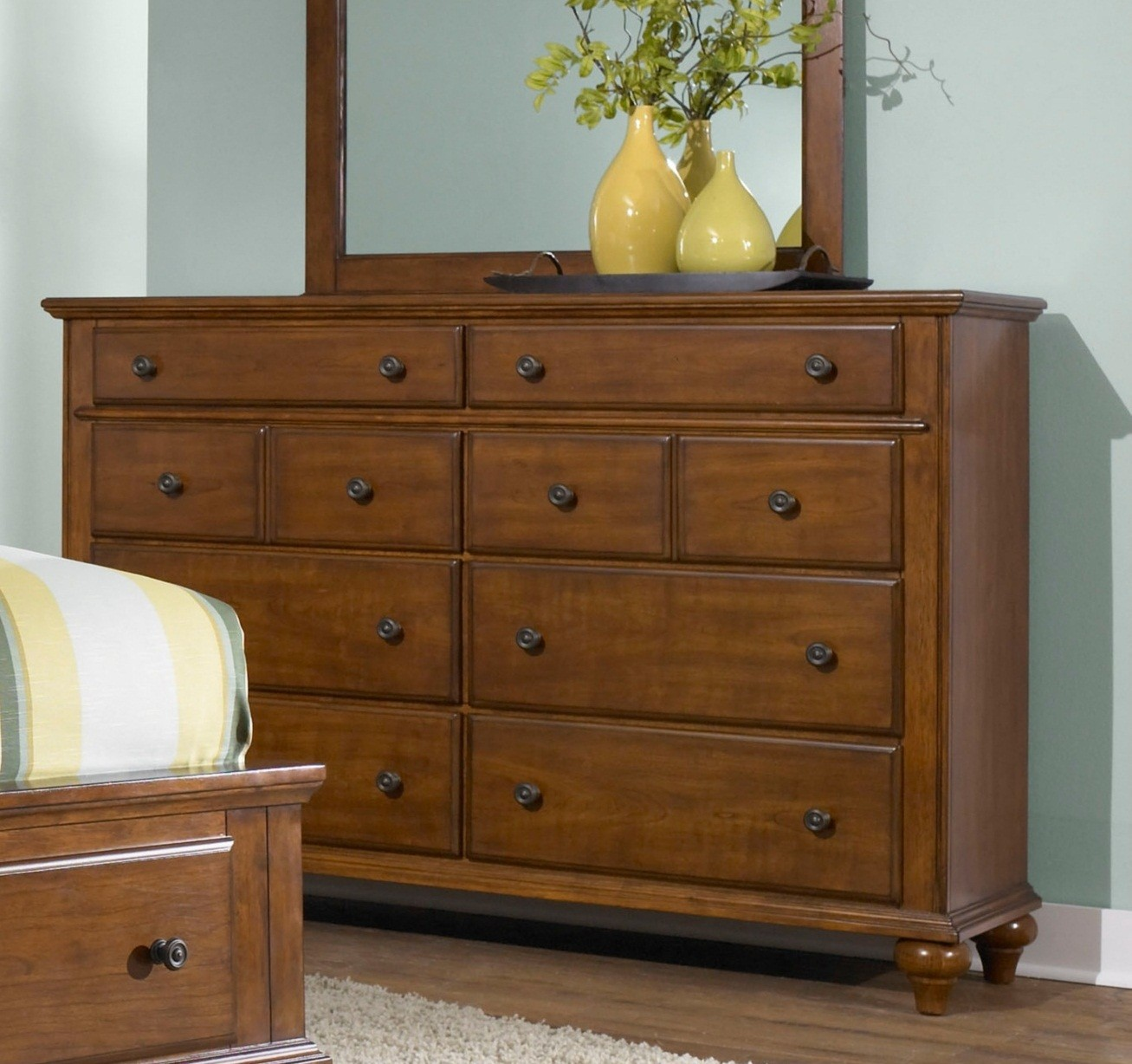 light cherry bedroom furniture hayden place light cherry drawer dresser from broyhill 15822