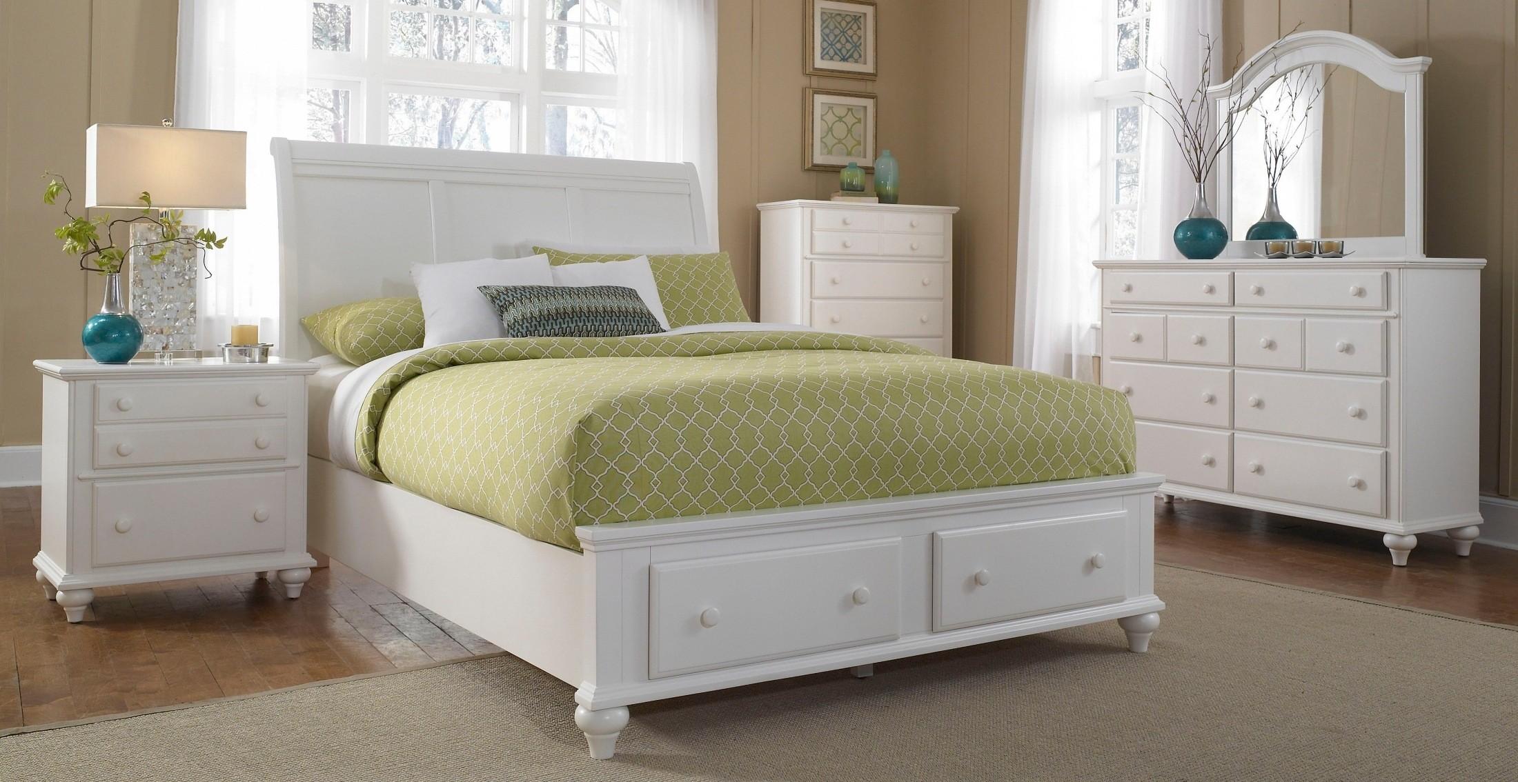 Hayden Place White Storage Sleigh Bedroom Set From Broyhill 4649 270 273 470 Coleman Furniture