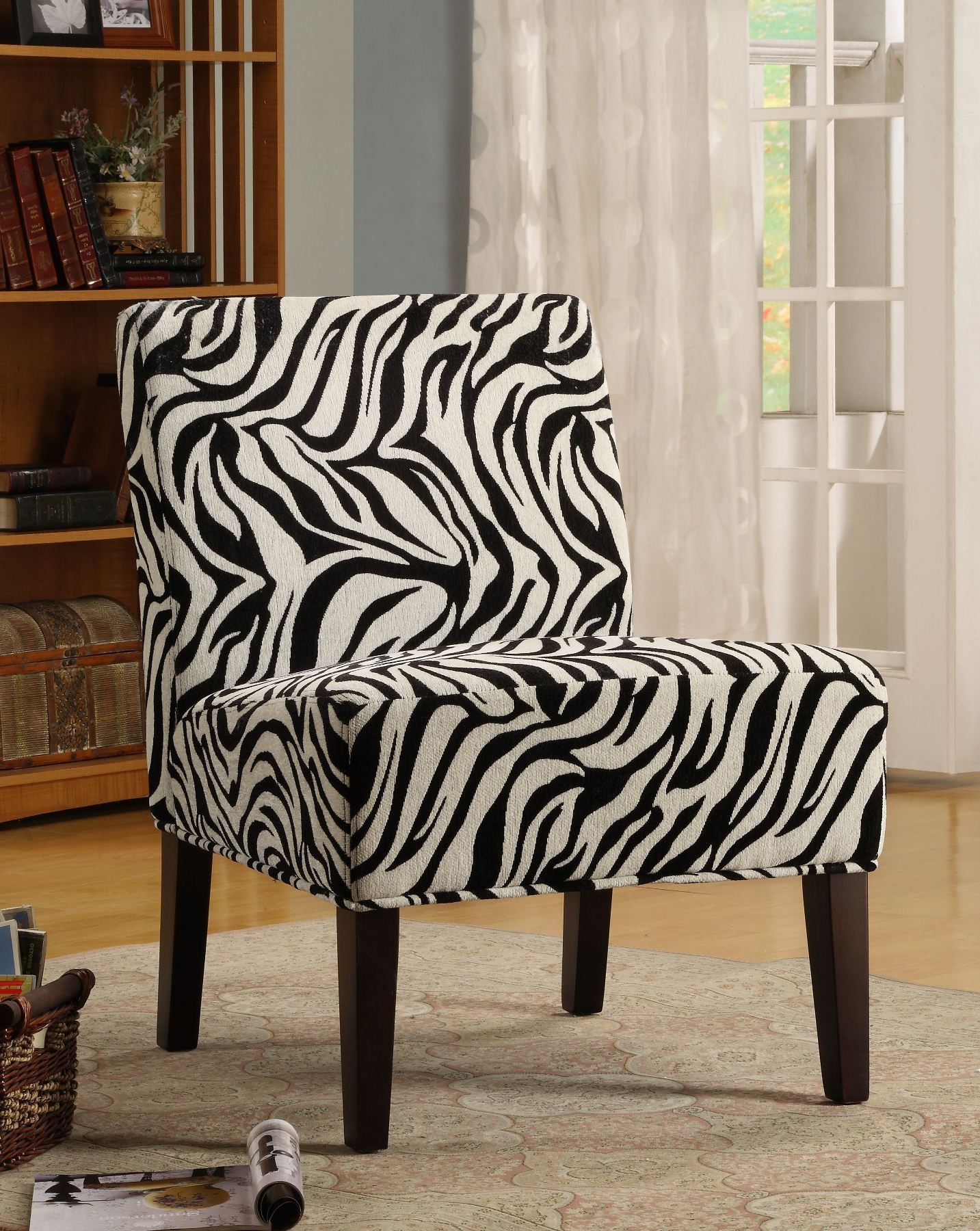 Lifestyle Armless Wild Zebra Pattern Lounge Chair From