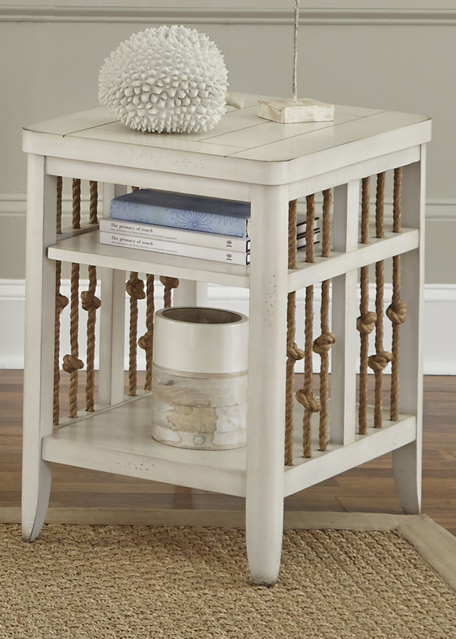 Dockside Ii White Chair Side Table From Liberty 469