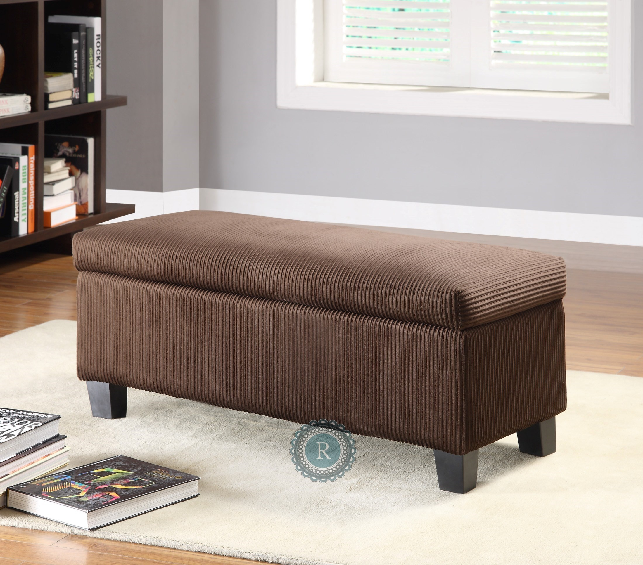 Claire Contemporary Lift Top Storage Bench From