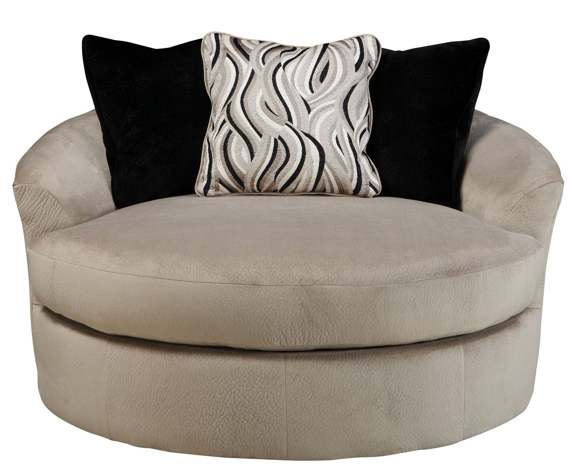 Heflin Pebble Oversized Swivel Accent Chair 4720121