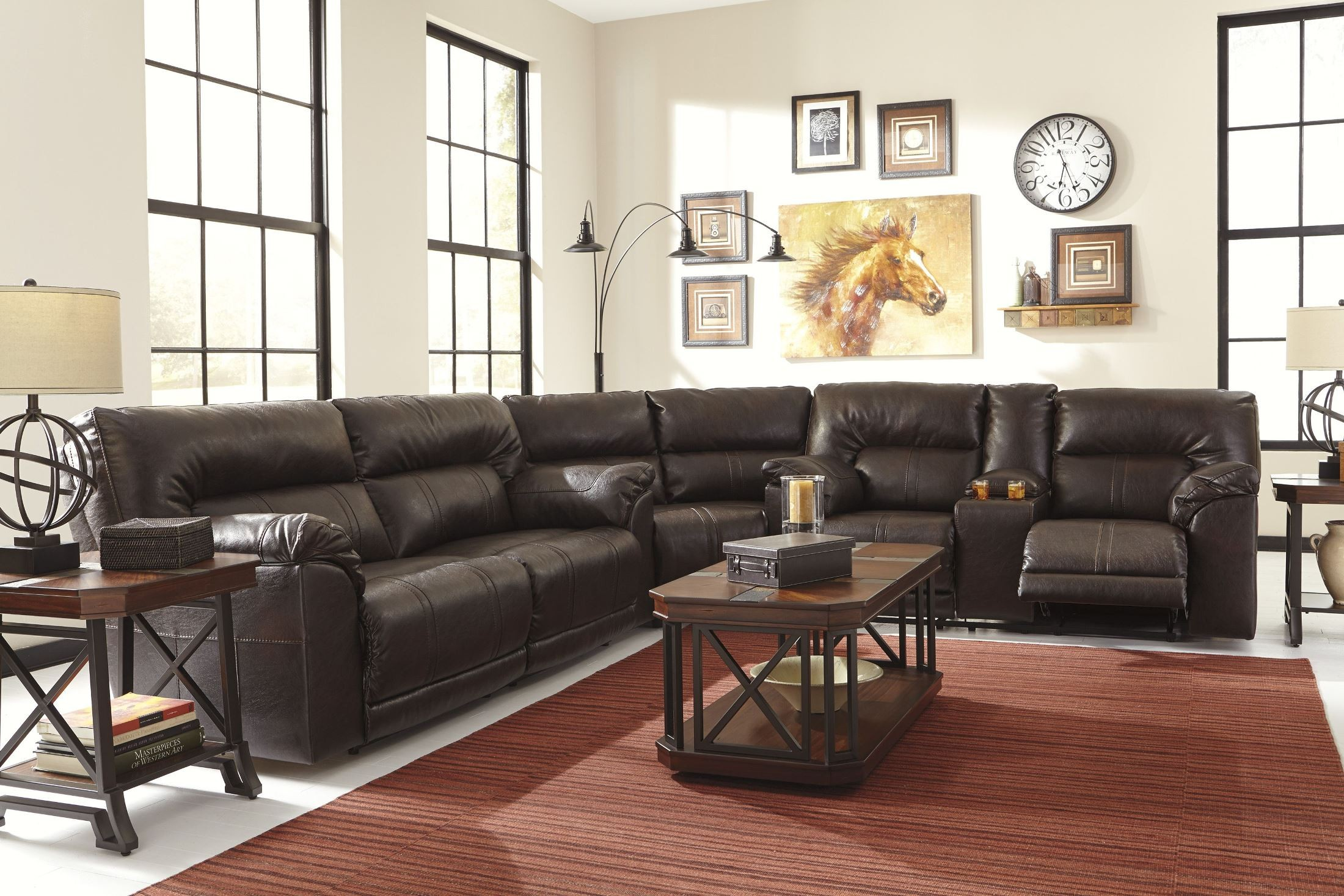 Barrettsville Durablend Chocolate 2 Seat Reclining Sofa
