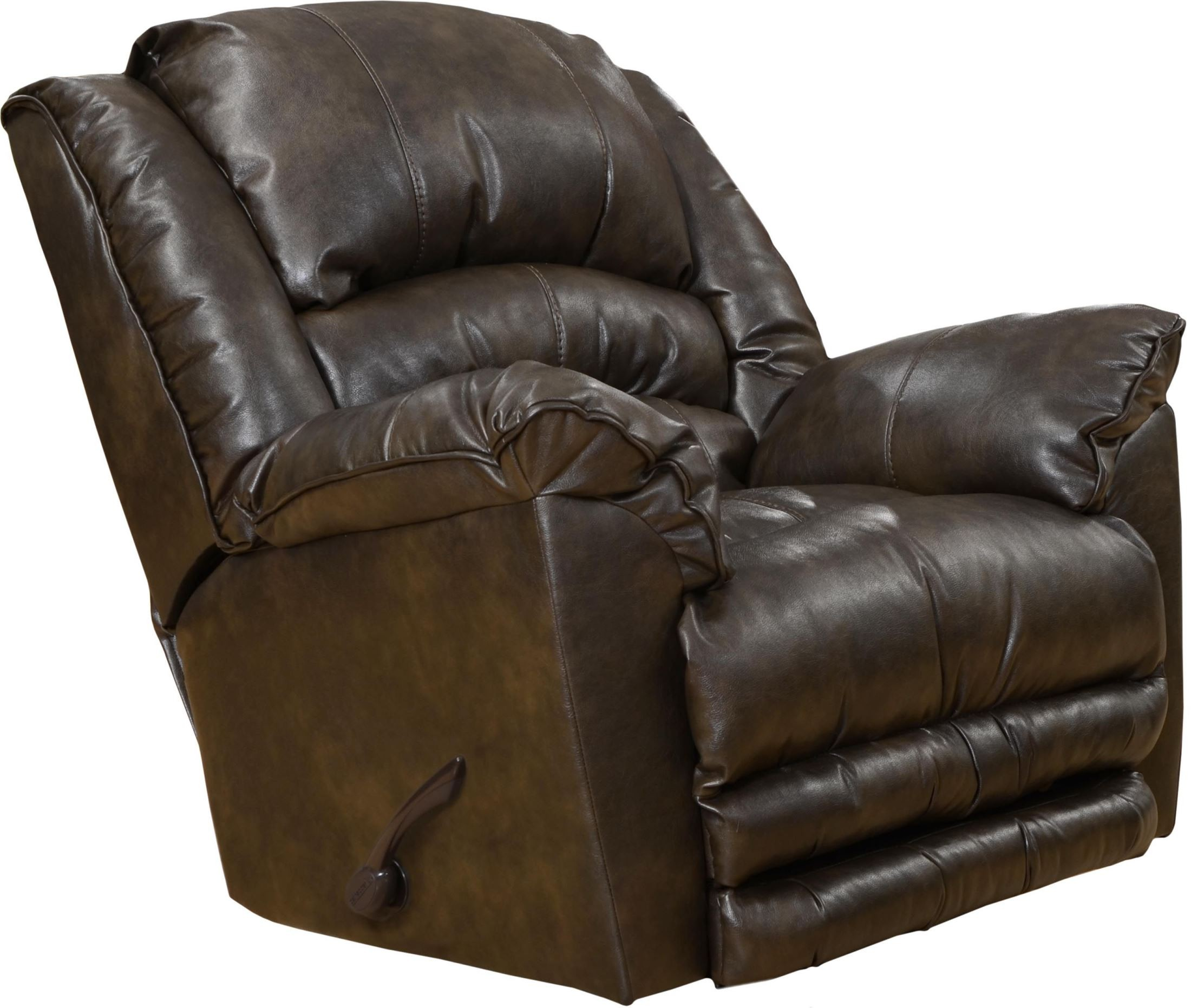 Fillmore timber bonded leather recliner from catnapper for Catnapper cloud nine chaise recliner