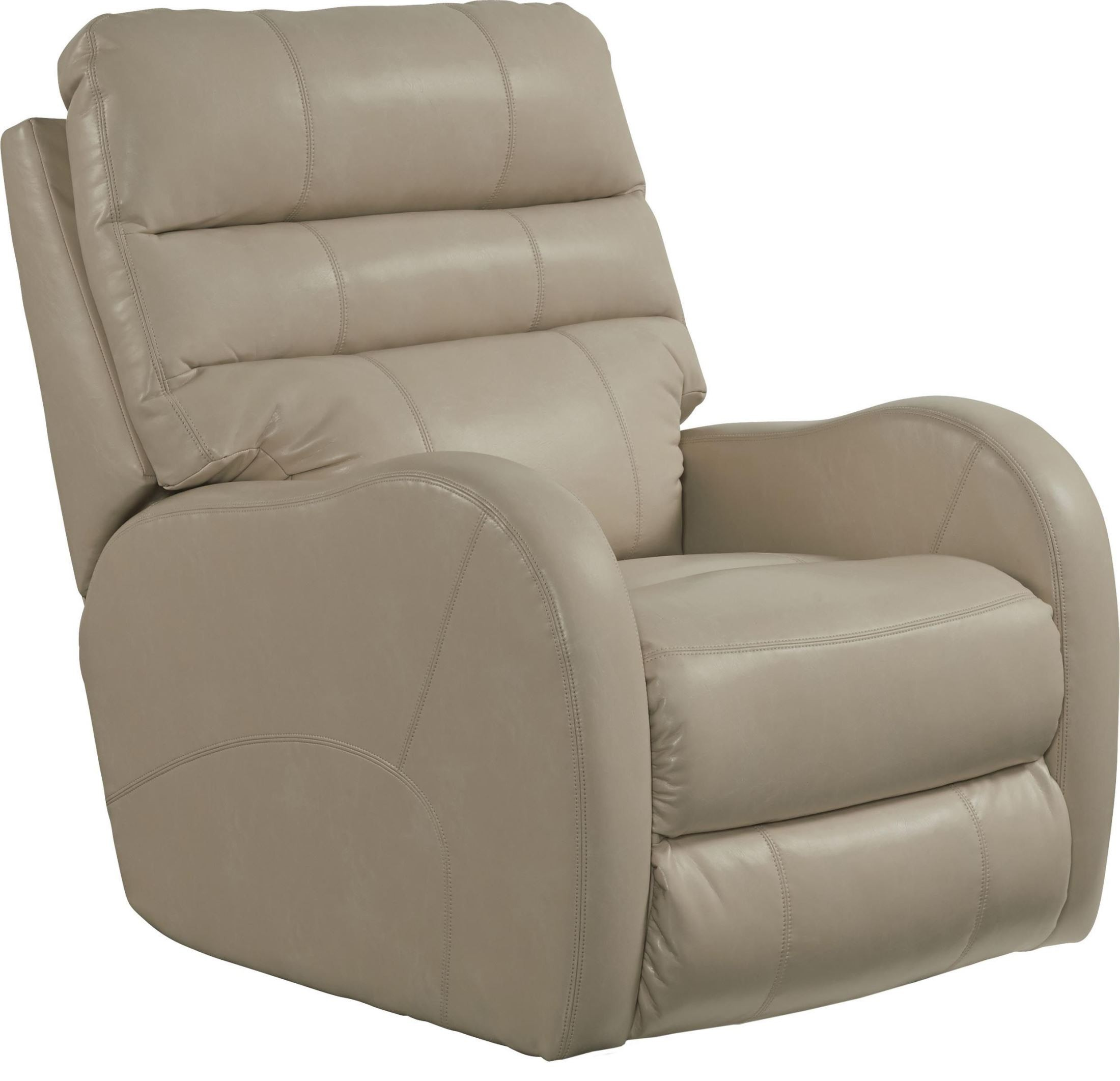 Searcy parchment rocker recliner from catnapper for Catnapper cloud nine chaise recliner