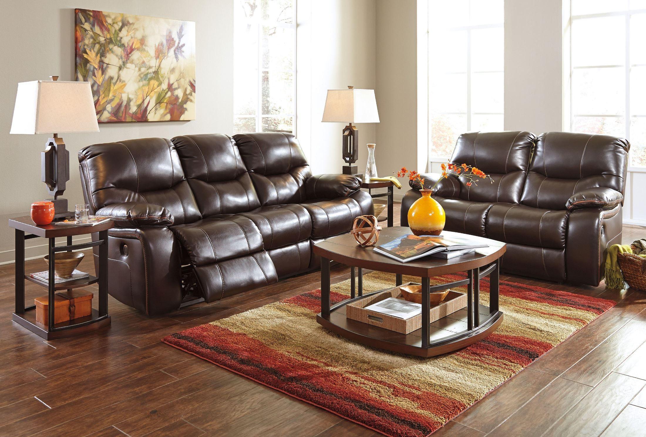 Pranas Brindle Reclining Sofa from Ashley