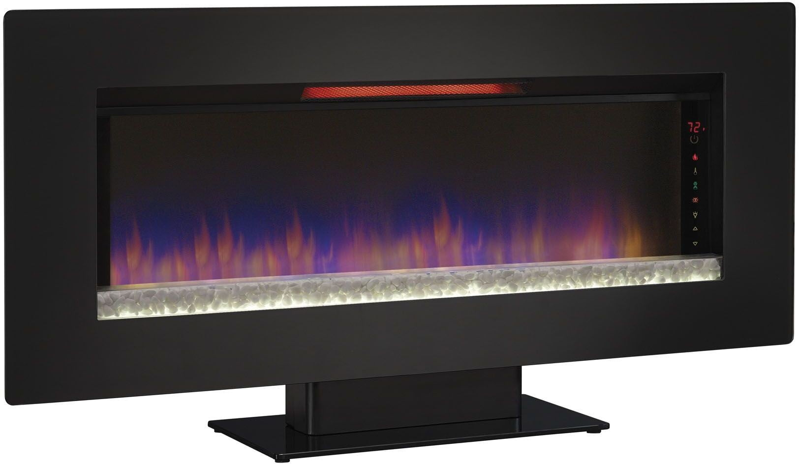 Classicflame Black Glass Frame Felicity 47 Quot Wall Mounted