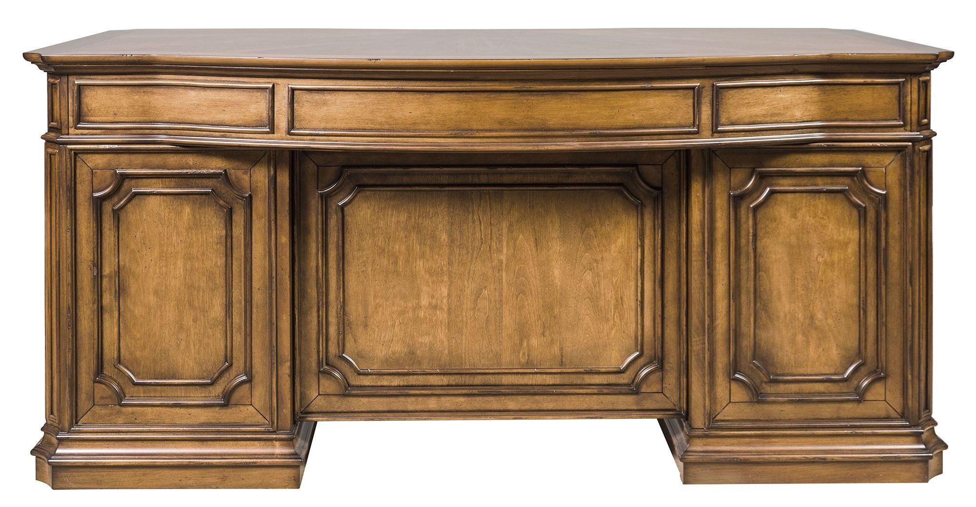 Amelia Antique Toffee Jr Executive Home Office Set From