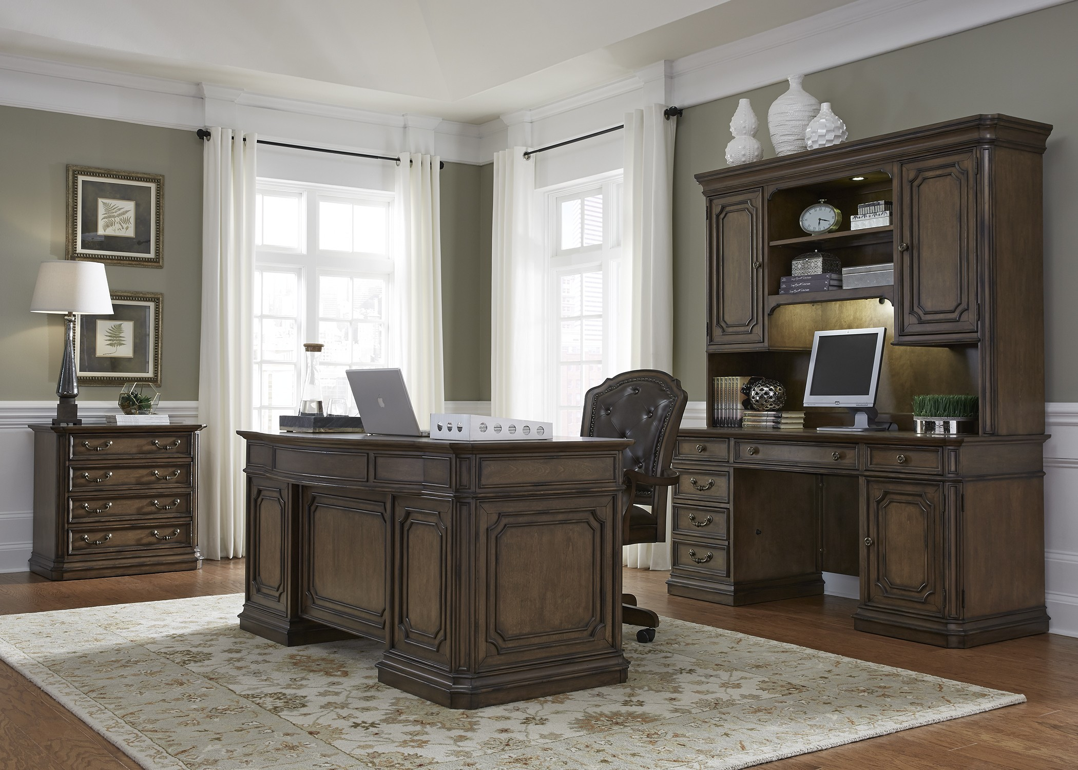 Amelia Antique Toffee Jr Executive Home Office Set From Liberty