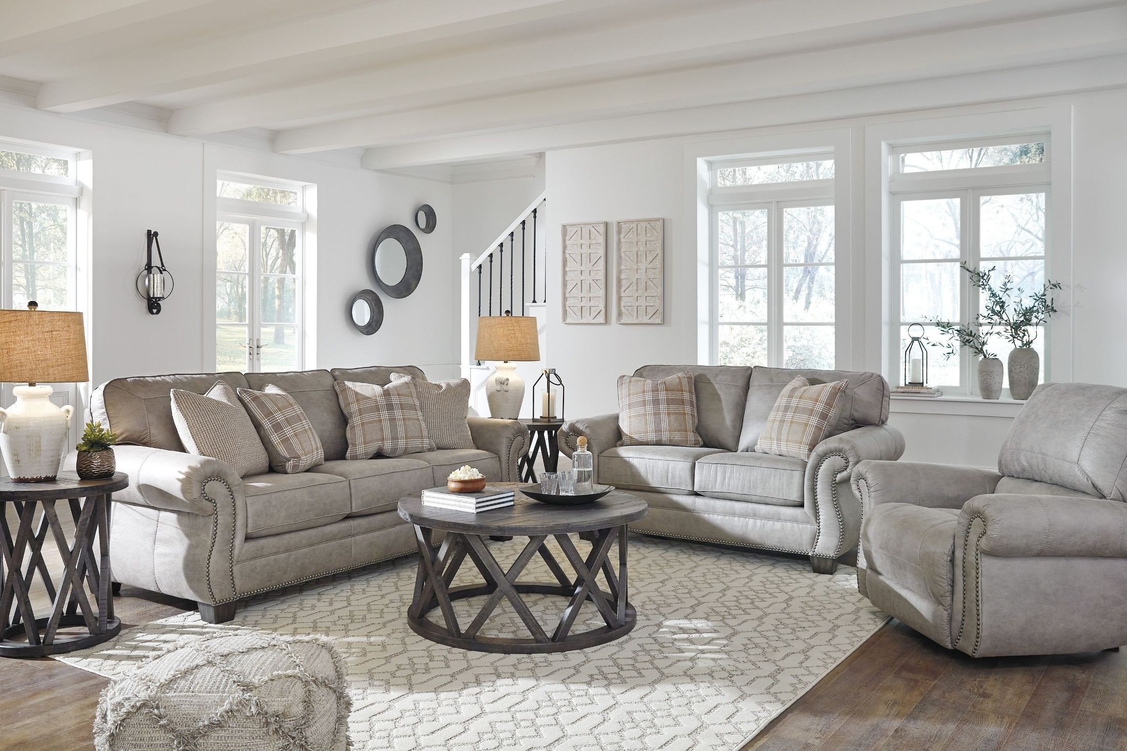 Olsberg Steel Living Room Set from Ashley | Coleman Furniture