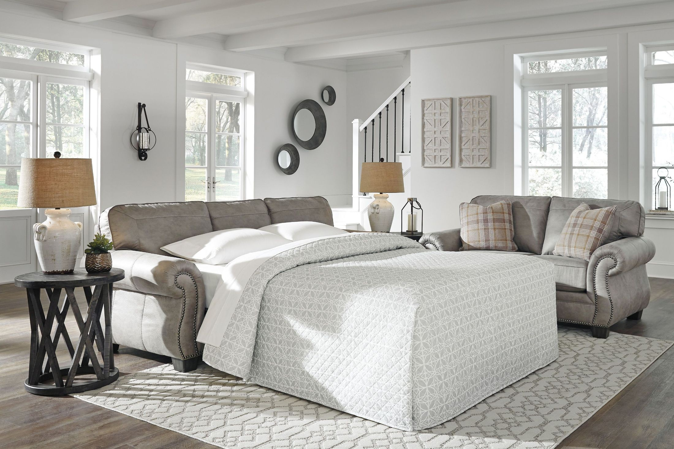Olsberg Steel Living Room Set from Ashley | Coleman Furniture