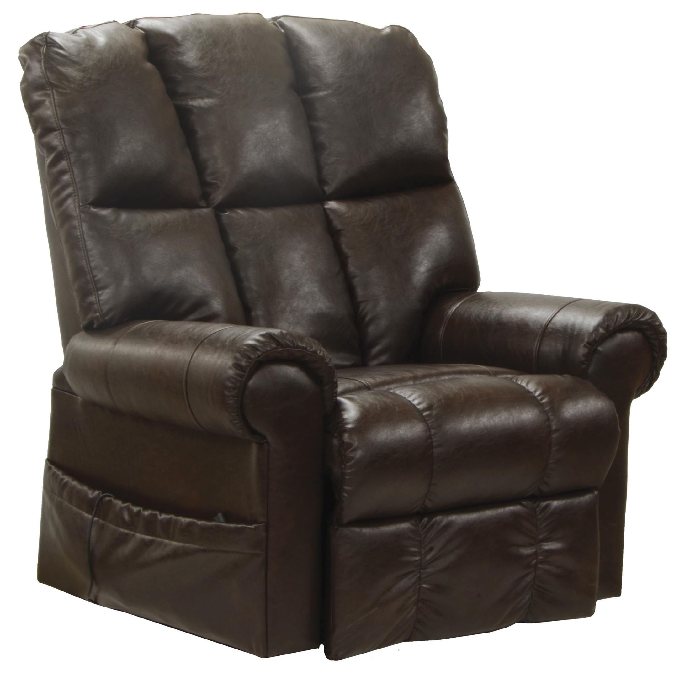 Templeton hershey leather power recliner from catnapper for Catnapper cloud nine chaise recliner