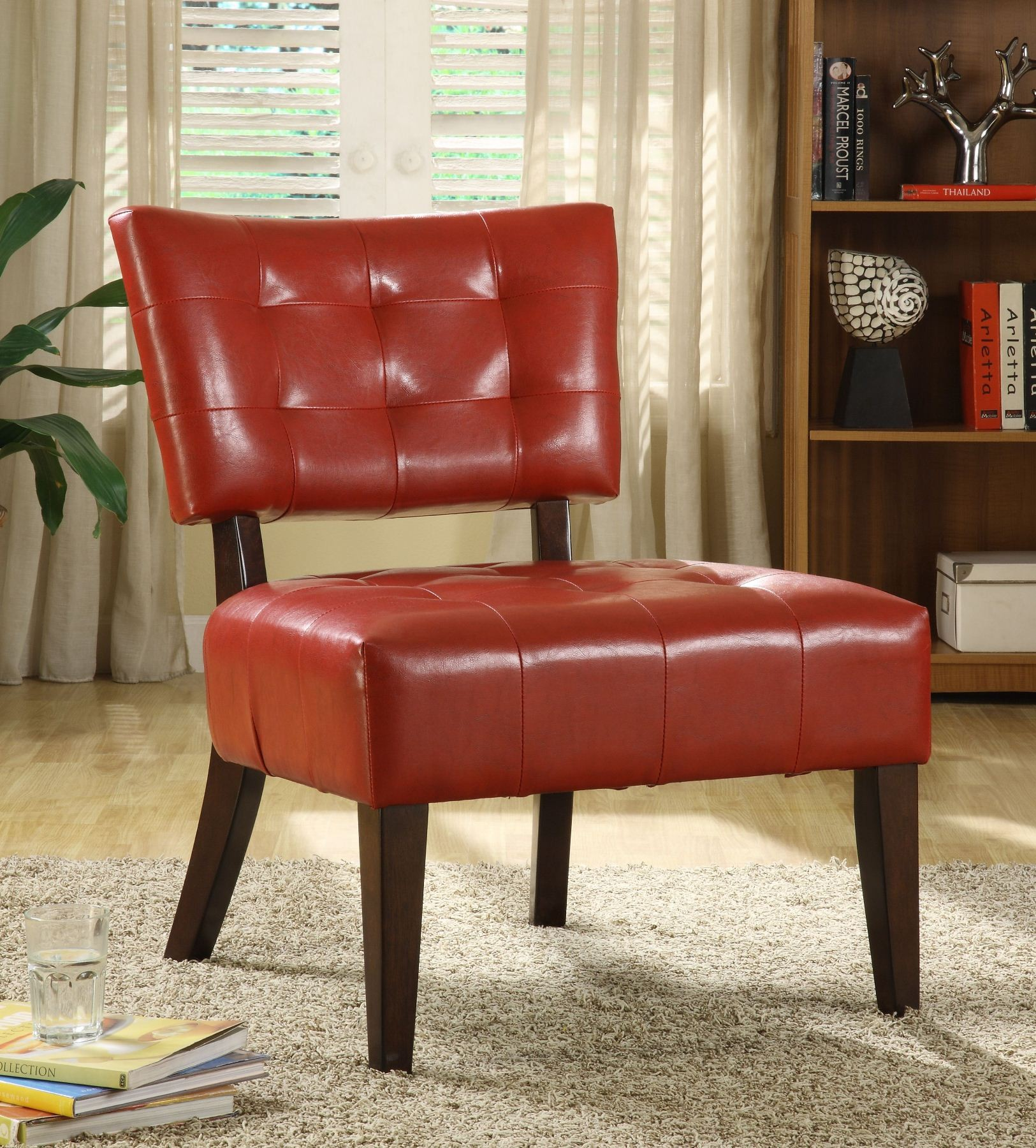 Warner Lava Red Accent Chair From Homelegance 489rd