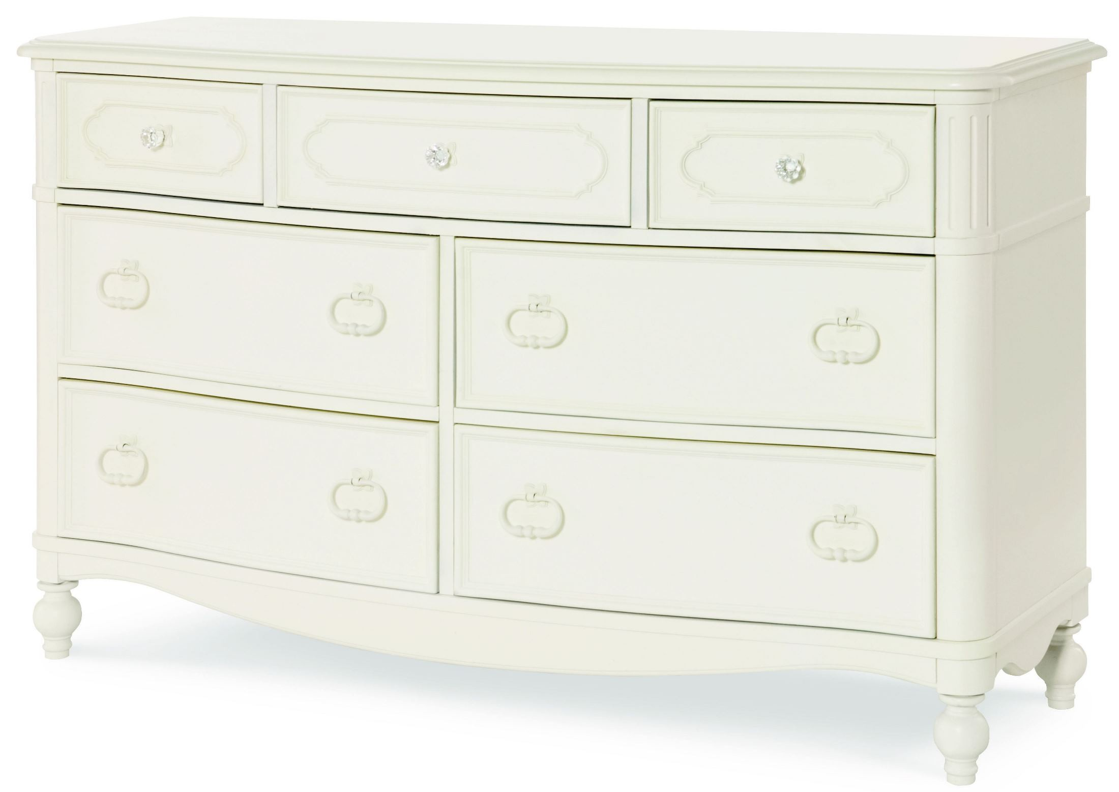 Harmony Antique Linen White 7 Drawer Dresser from Legacy ...