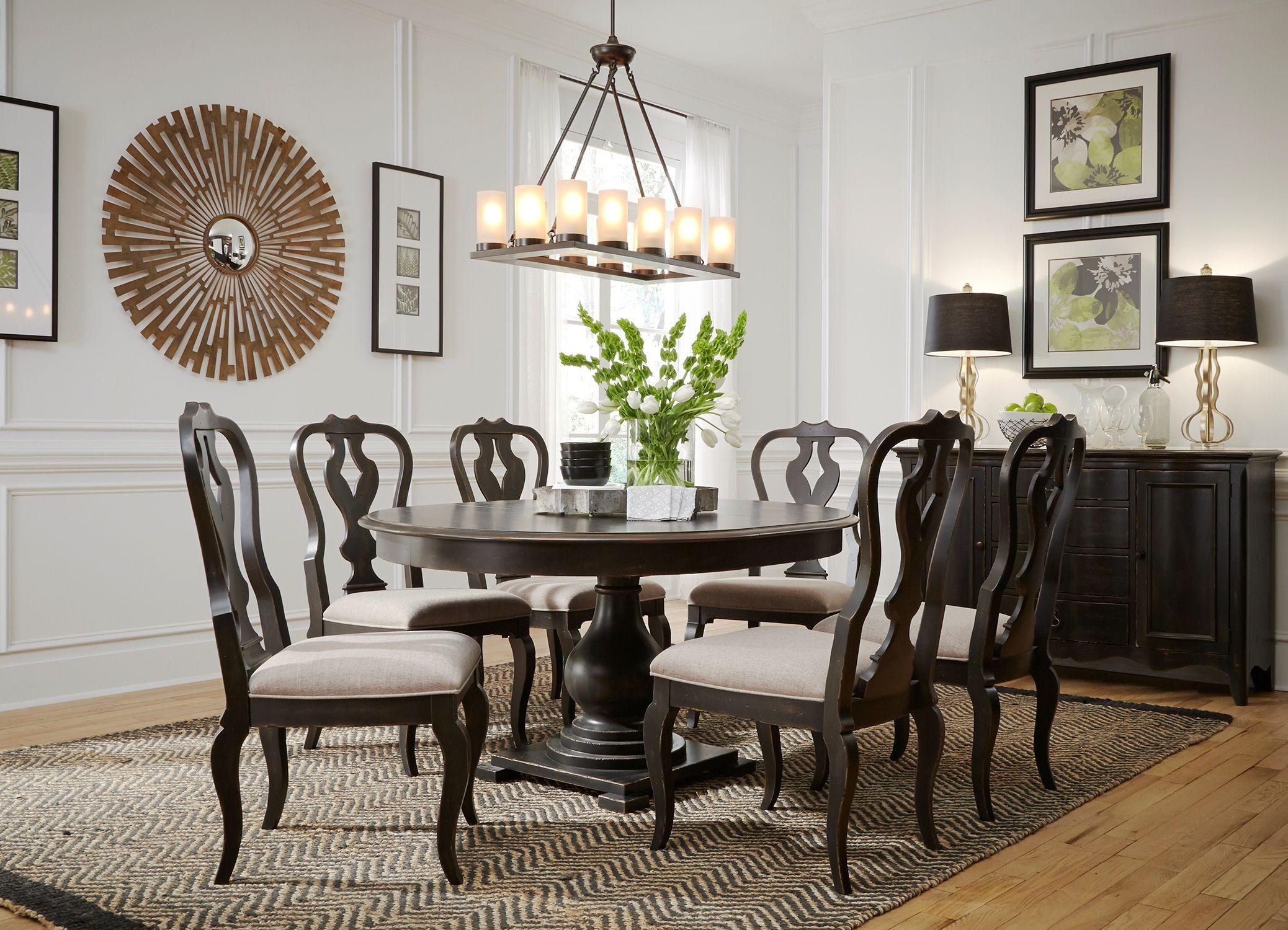 Antique round dining room