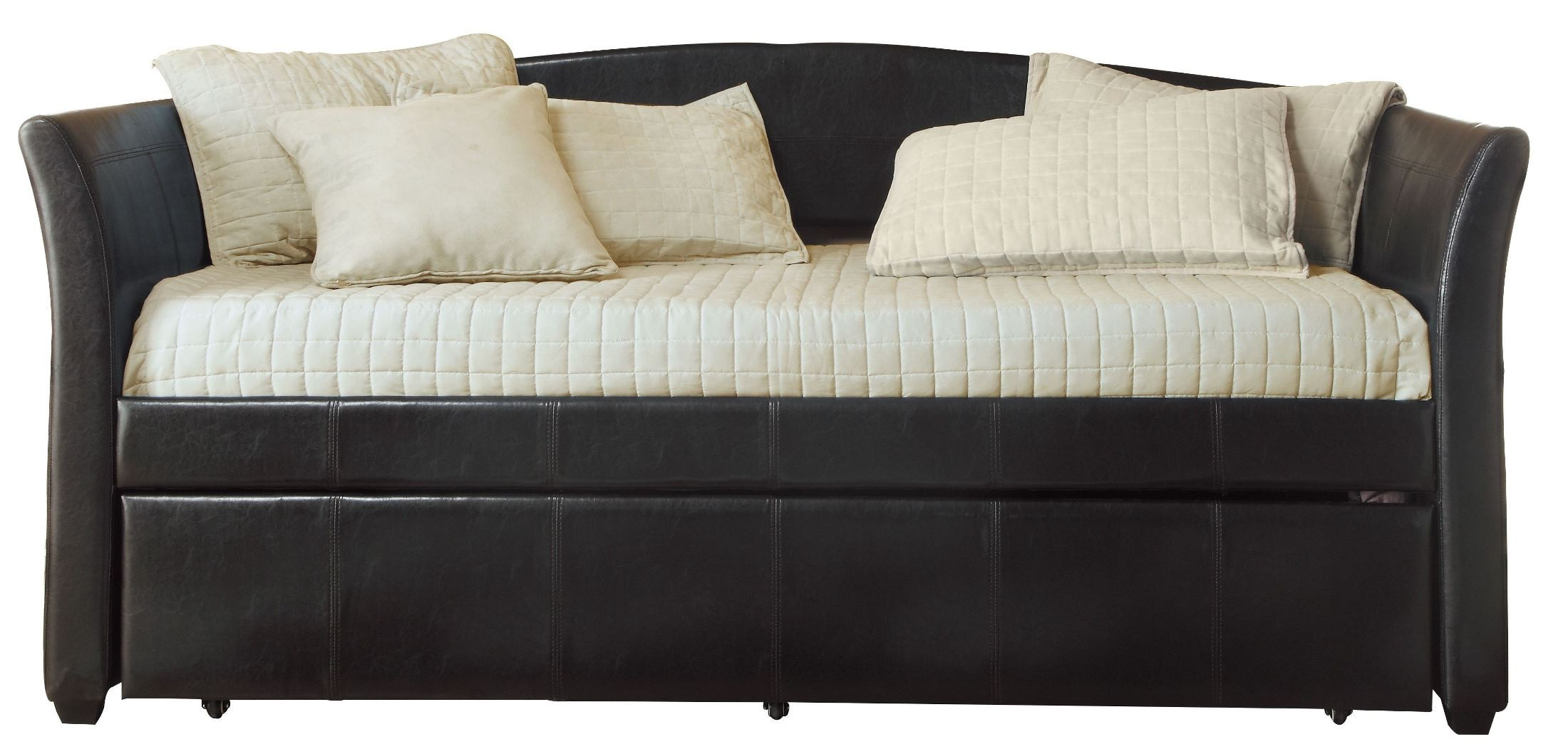 Meyer Dark Brown Daybed With Trundle From Homelegance