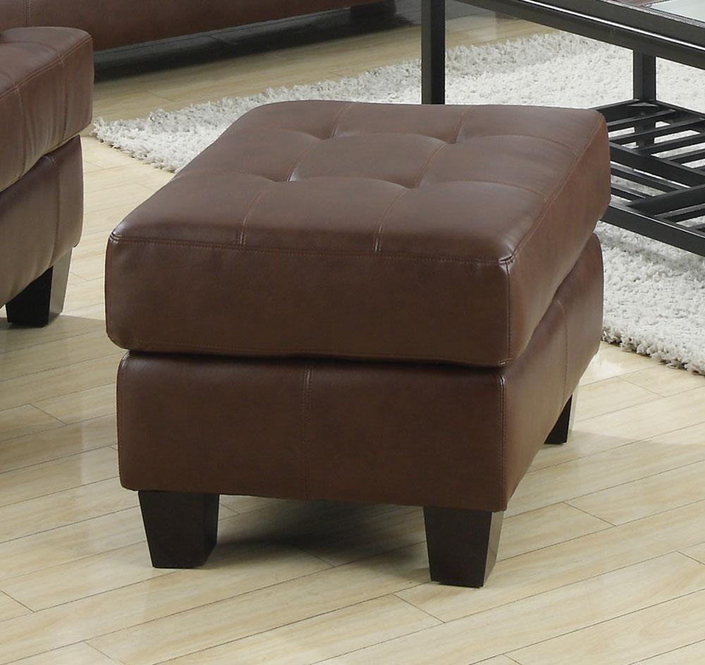 samuel dark brown ottoman from coaster 504074 coleman furniture. Black Bedroom Furniture Sets. Home Design Ideas