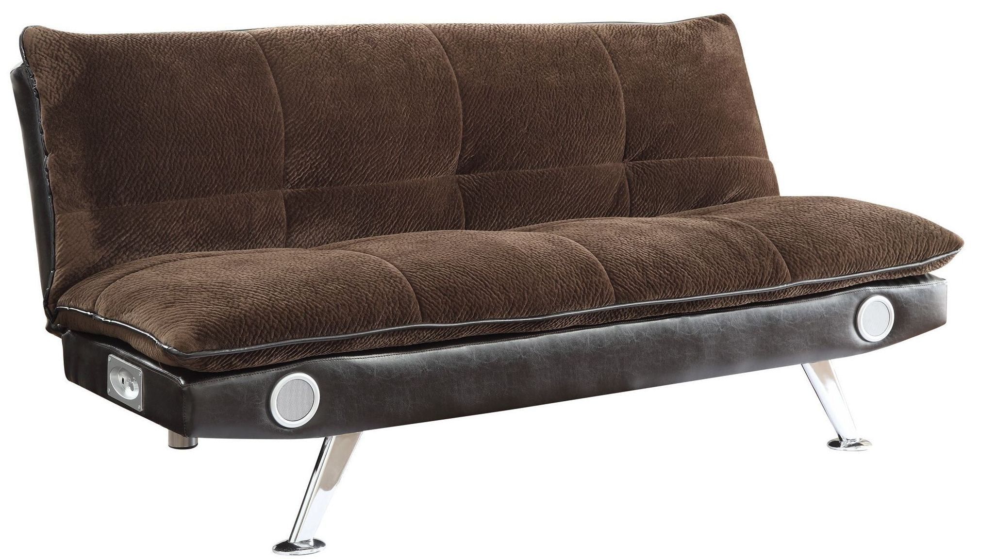 Braxton Velvet Brown Sofa Bed From Coaster 500047 Coleman Furniture