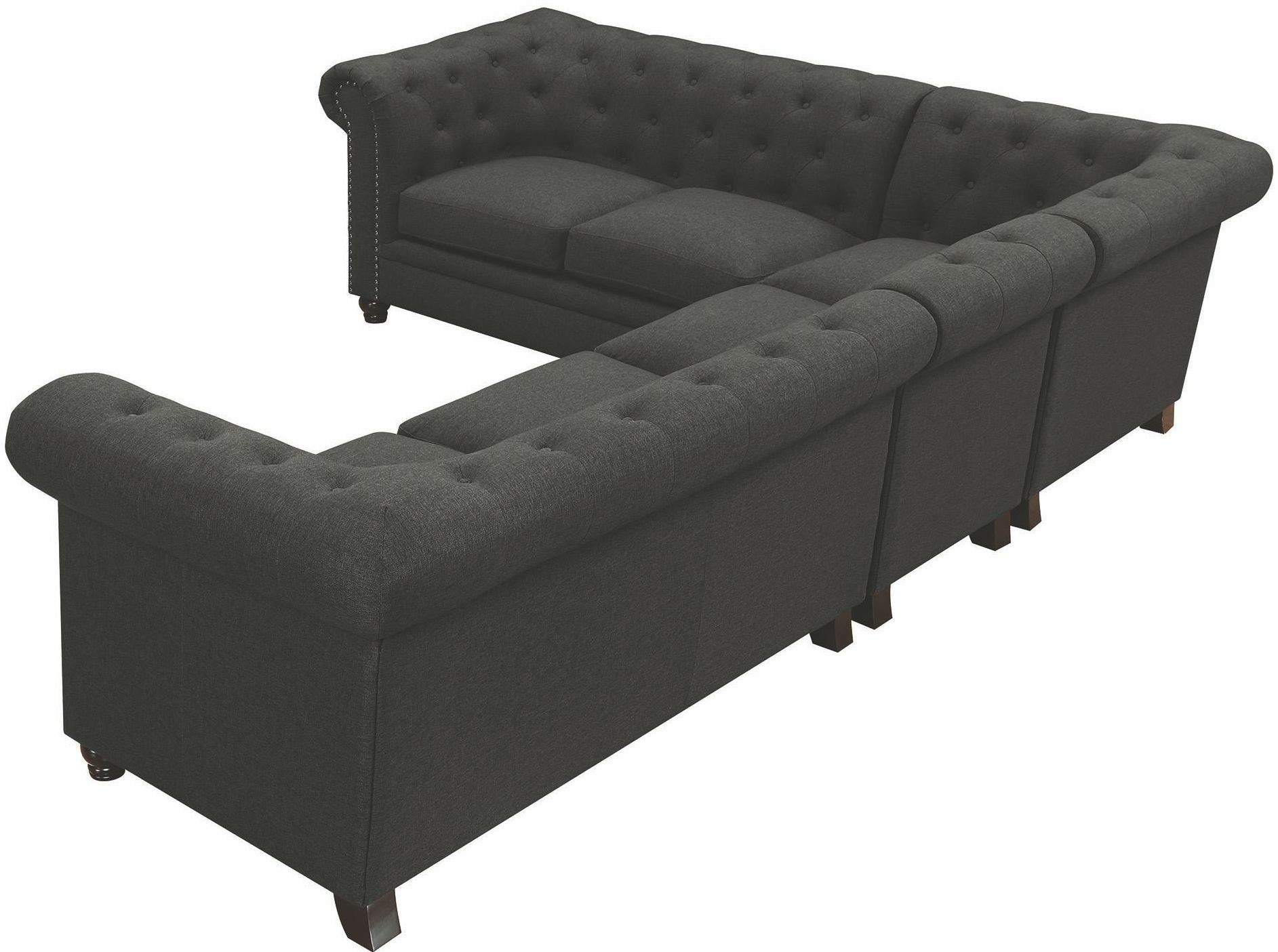 Roy Grey Sectional from Coaster
