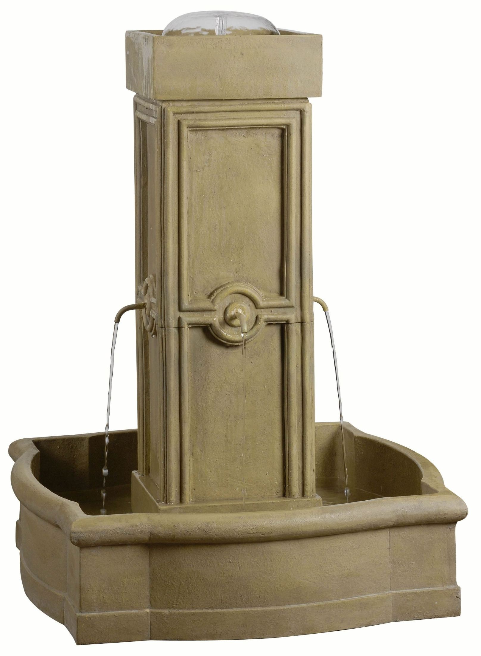 Quatrafoil sandstone outdoor floor fountain from kenroy for Floor fountain