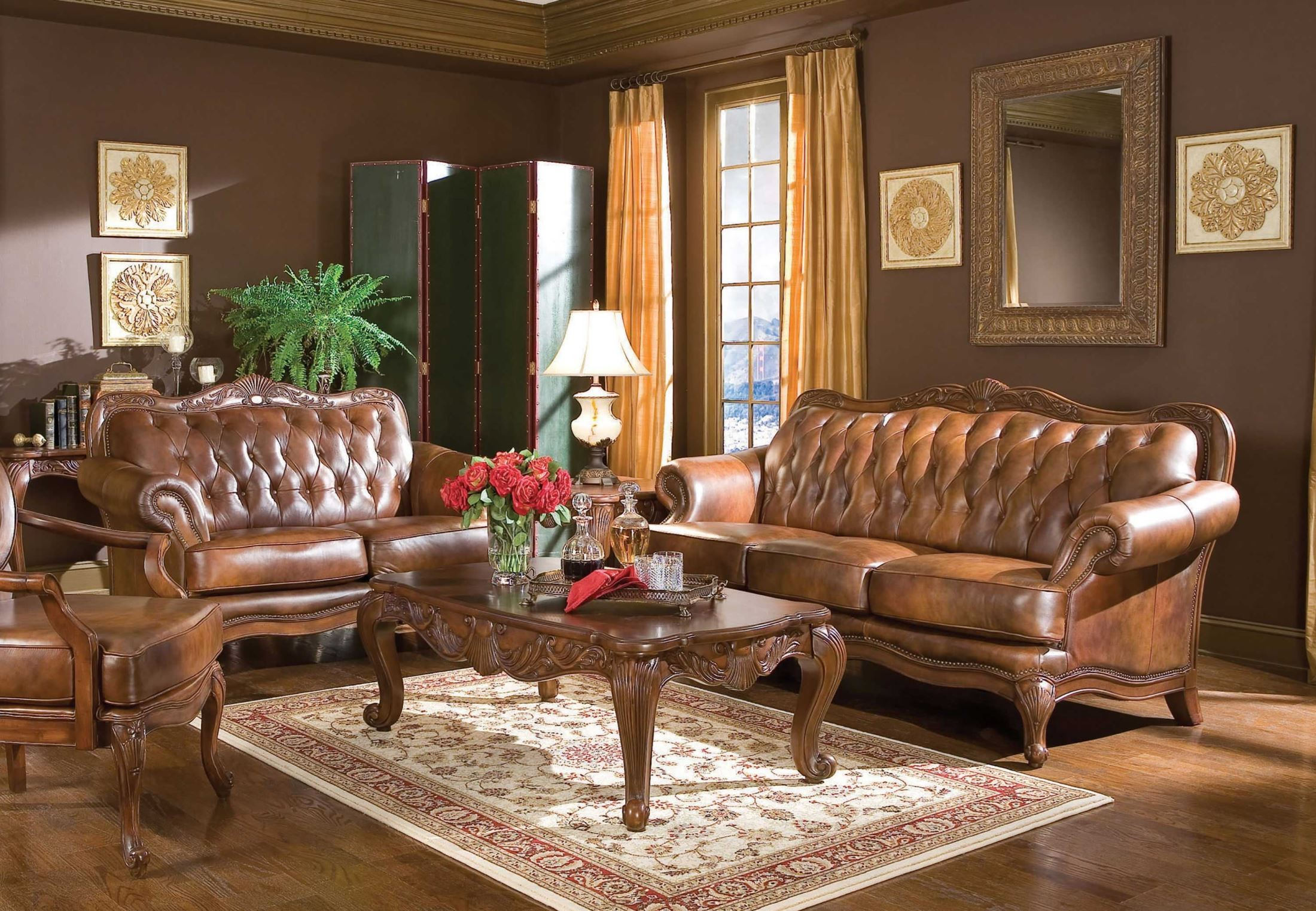 Stanton 3 piece living room set brown - 2457680