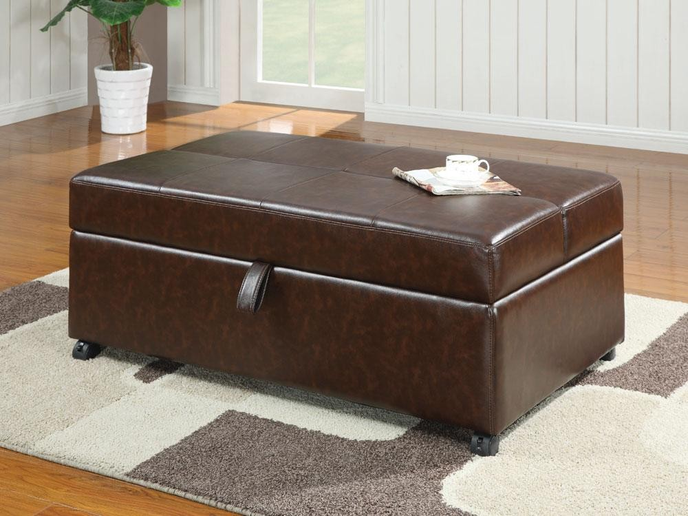 Brown Bench With Sleeper 500750 From Coaster 500750 Coleman Furniture