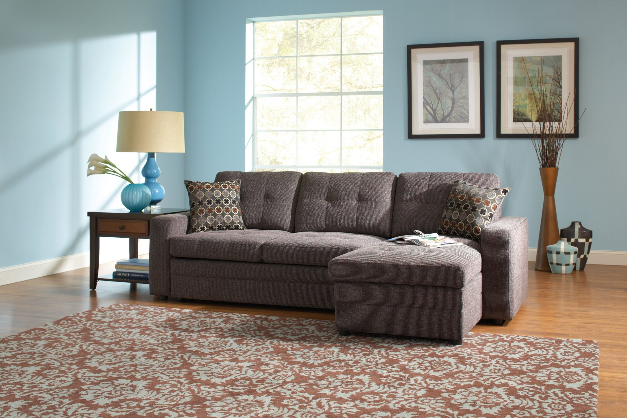 Gus Charcoal Black Sectional From Coaster 501677