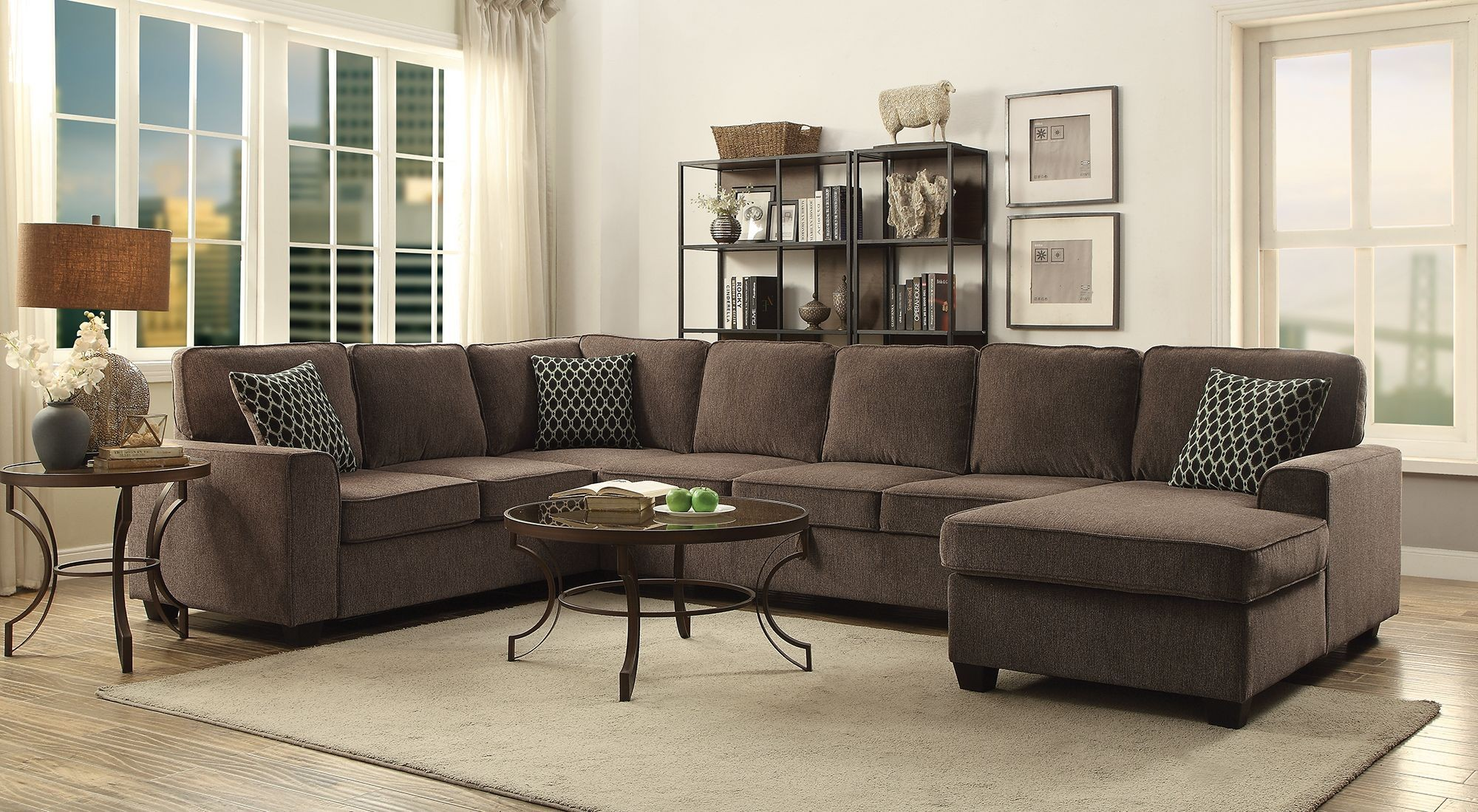 Provence Brown Sectional from Coaster   Coleman Furniture