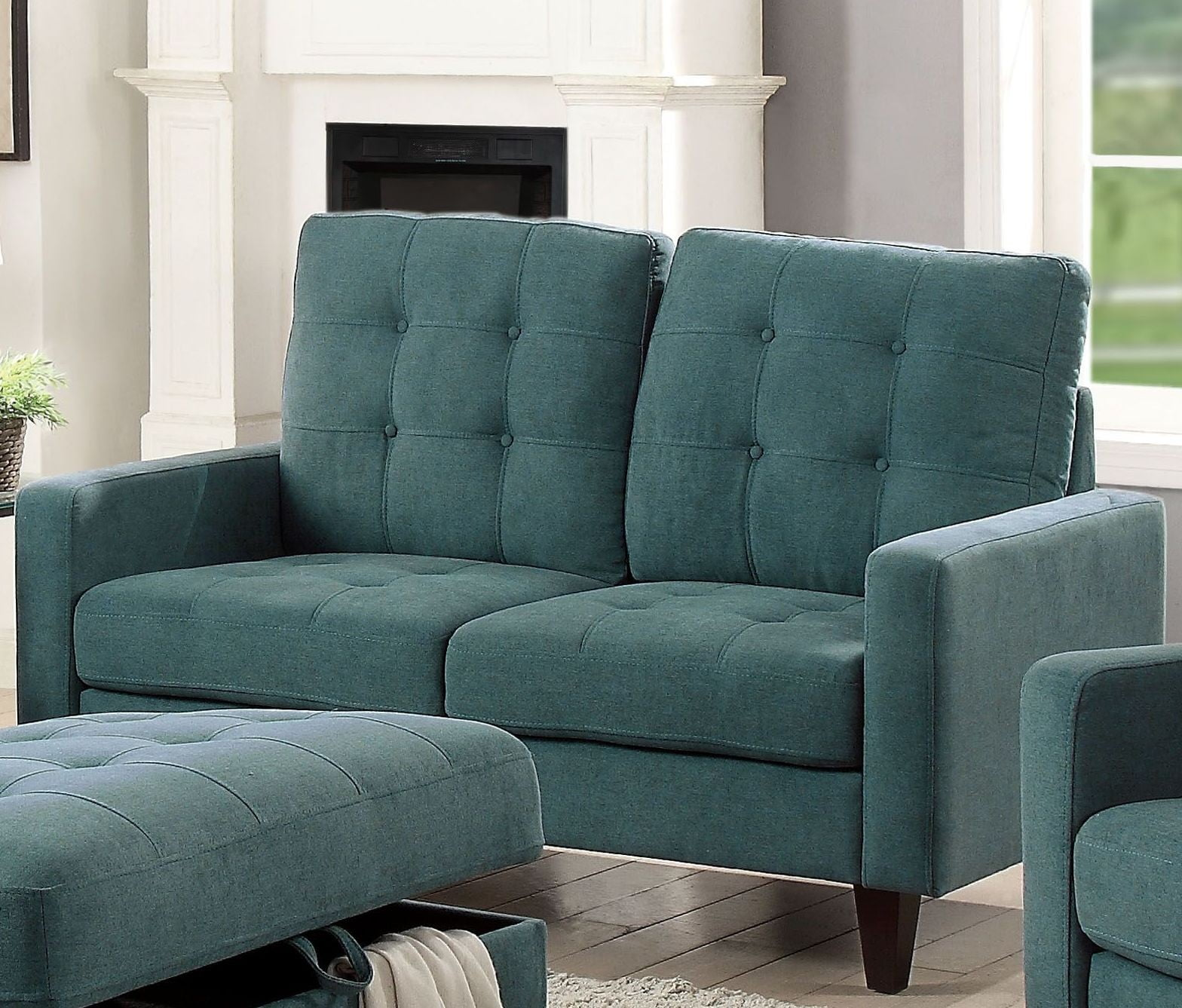 Nate Teal Loveseat From Acme Coleman Furniture