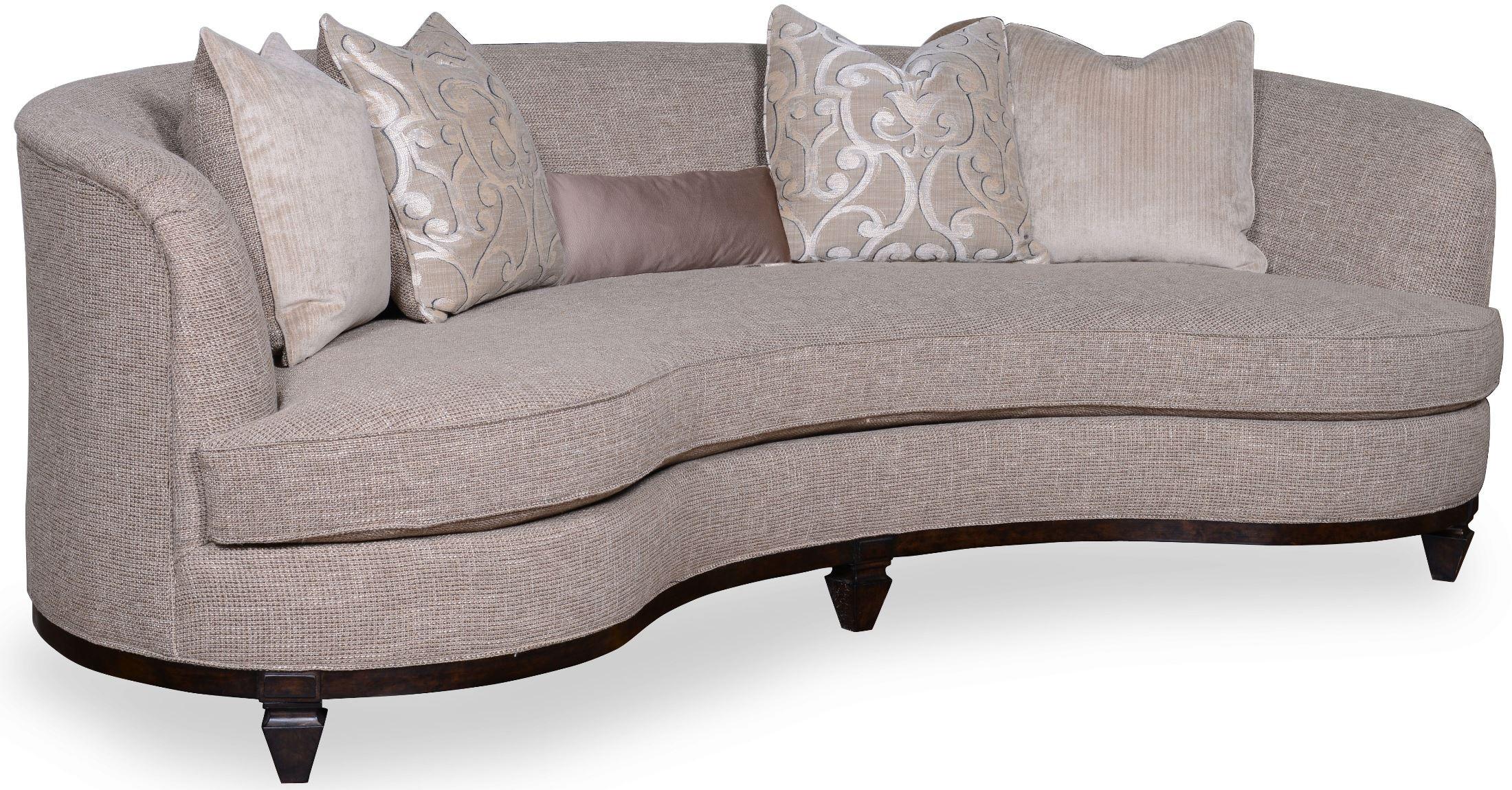 "Blair Fawn 101"" Kidney Sofa from ART 5015AA"