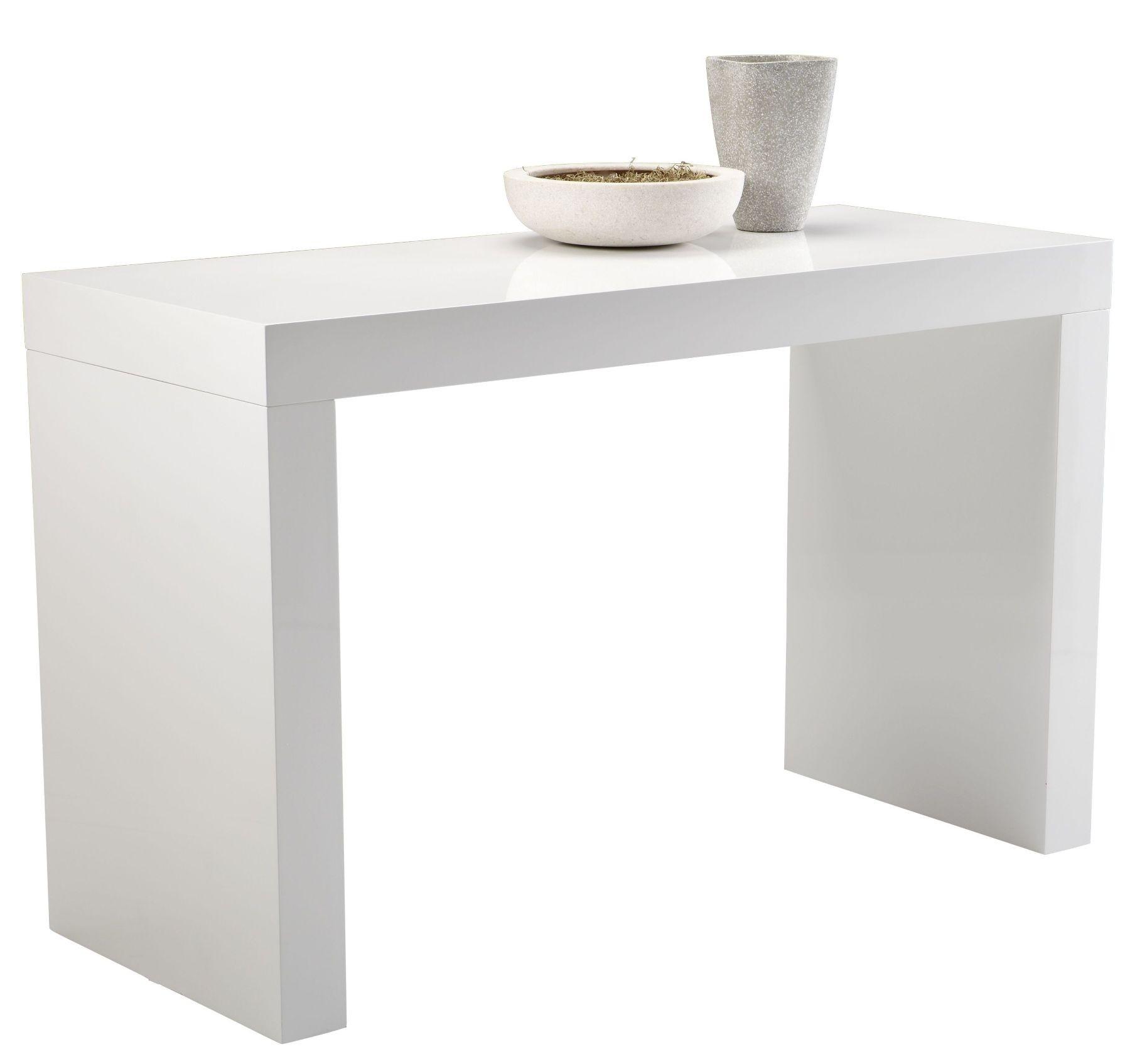 faro white high gloss cshape counter table from sunpan (  -