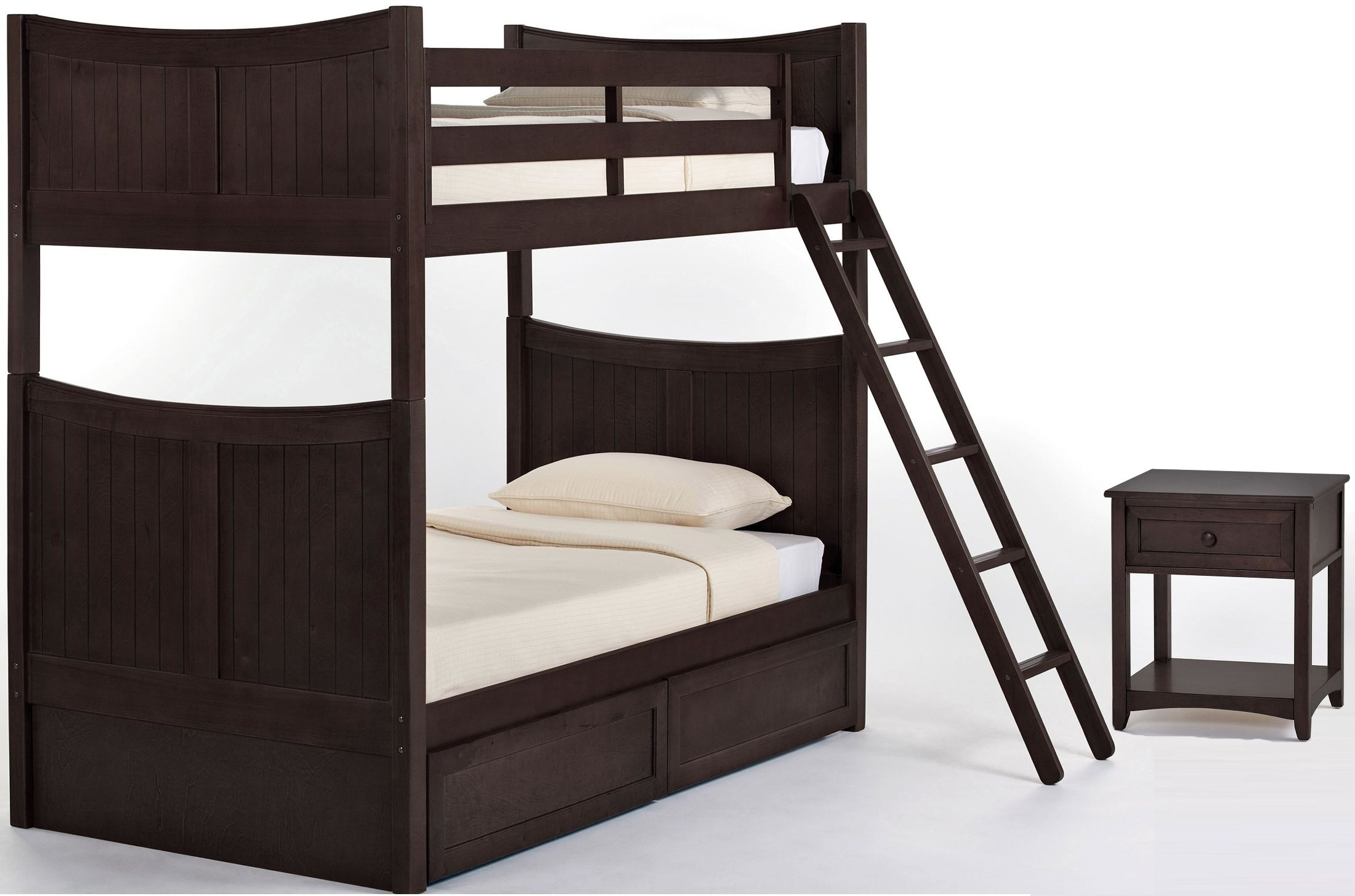 School house chocolate taylor youth bunk bedroom set with for Taylor j bedroom furniture