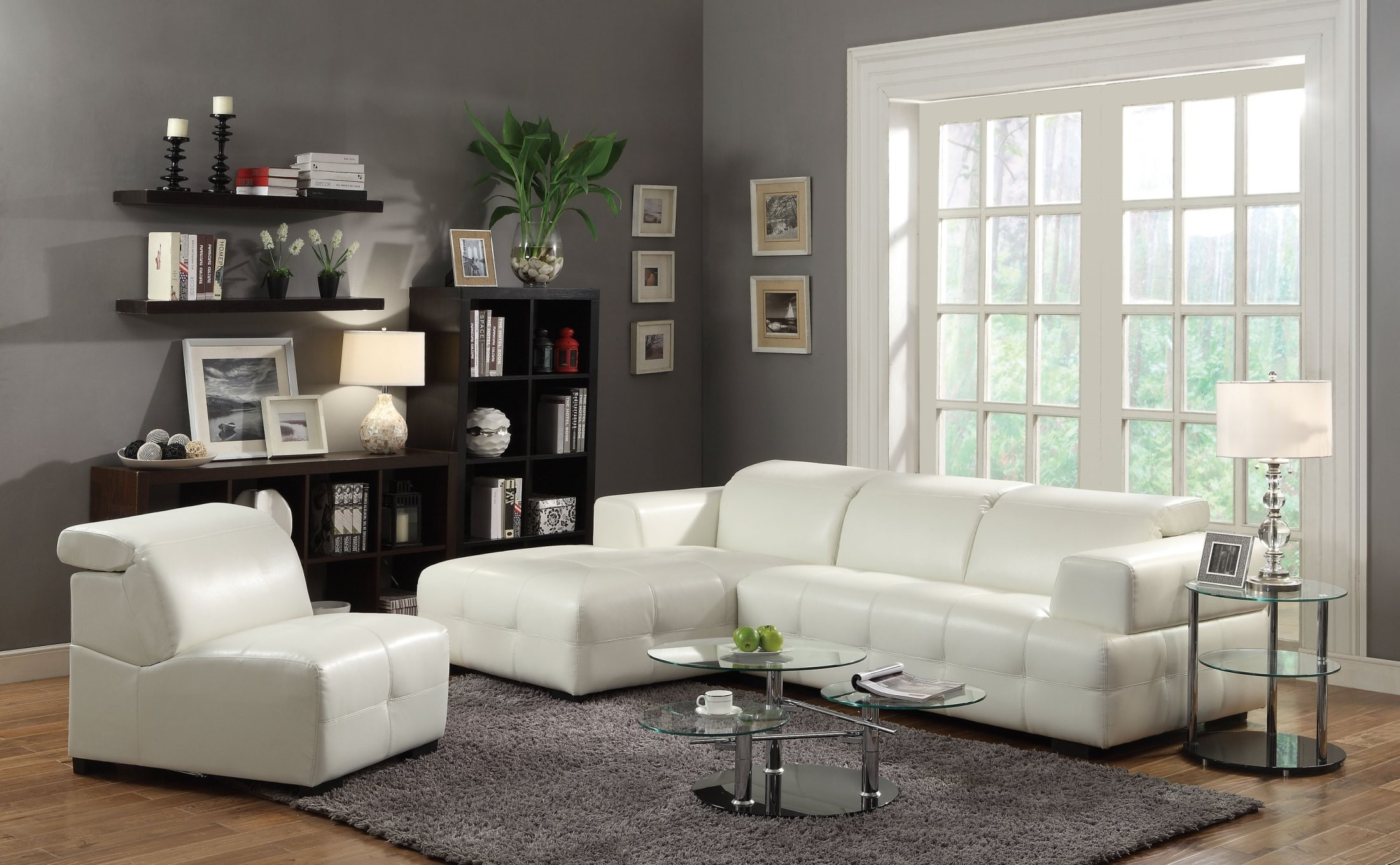 Darby White Sectional From Coaster 503617 Coleman