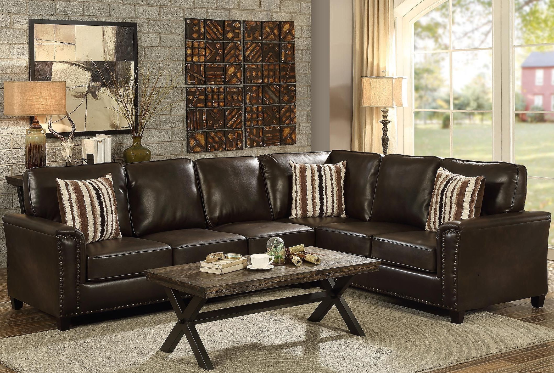 Larkny Dark Brown Sleeper Sectional from Coaster