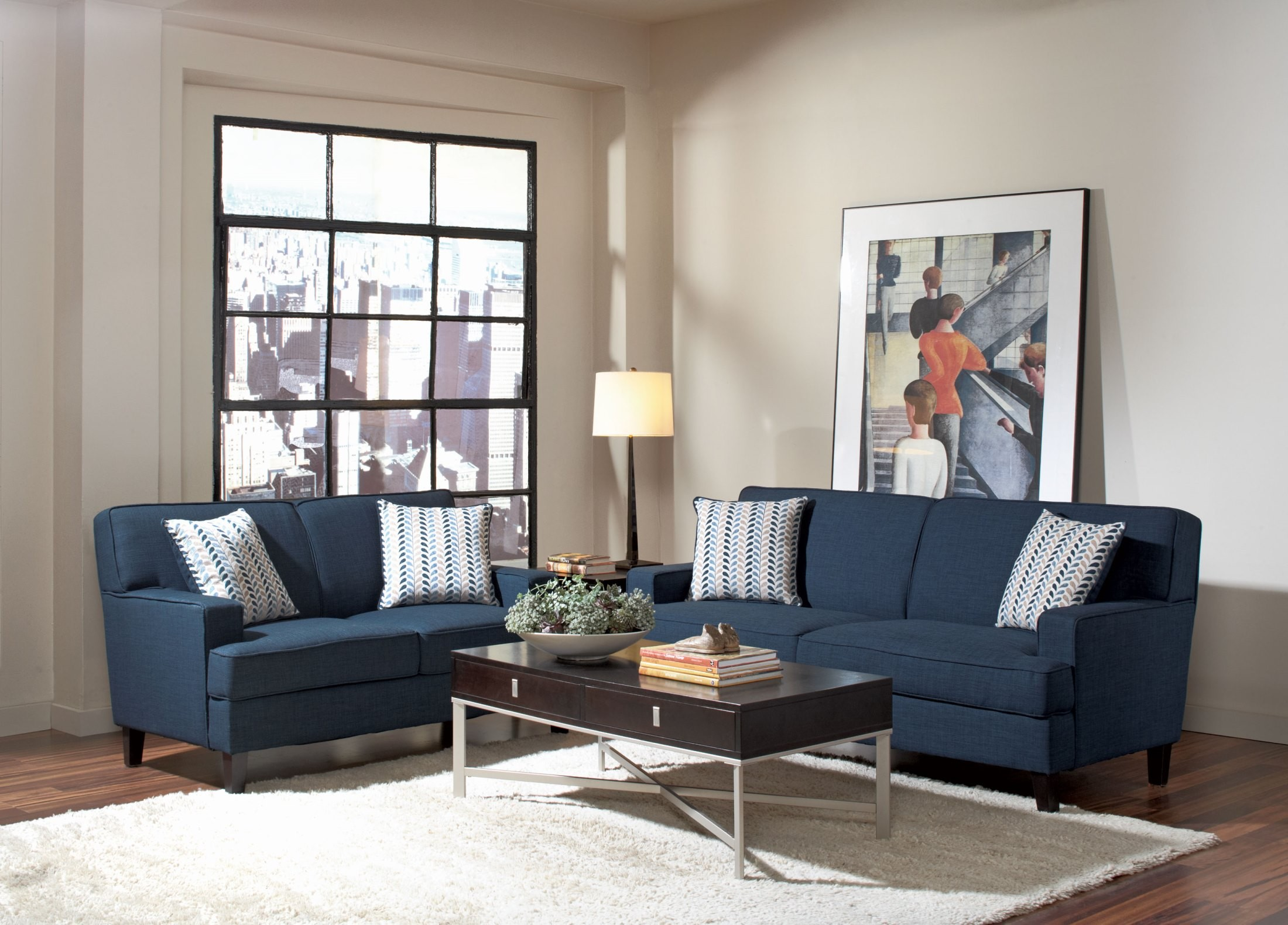 Finley Blue Living Room Set From Coaster 5043212
