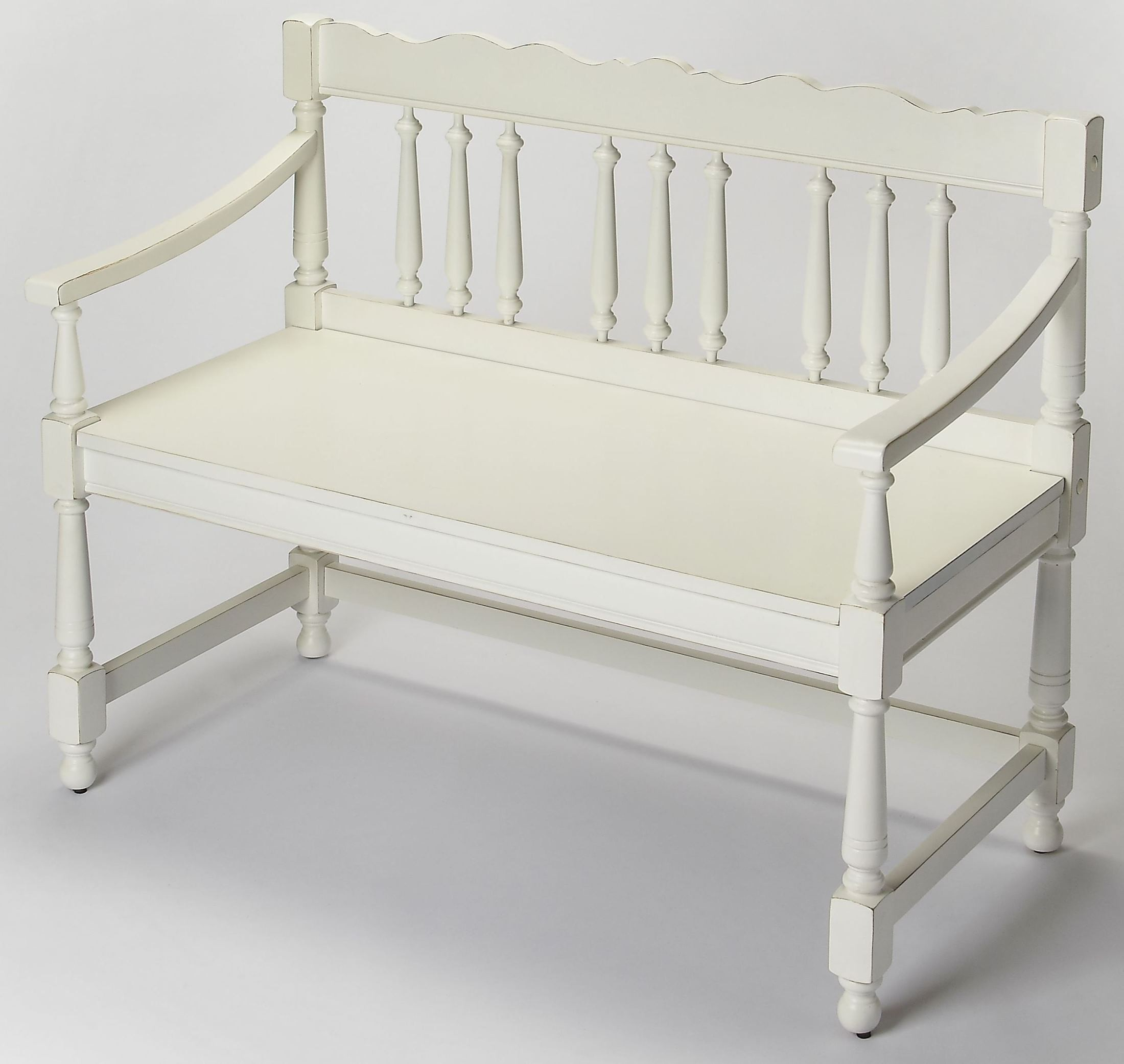 Cather Cottage White Bench From Butler Coleman Furniture
