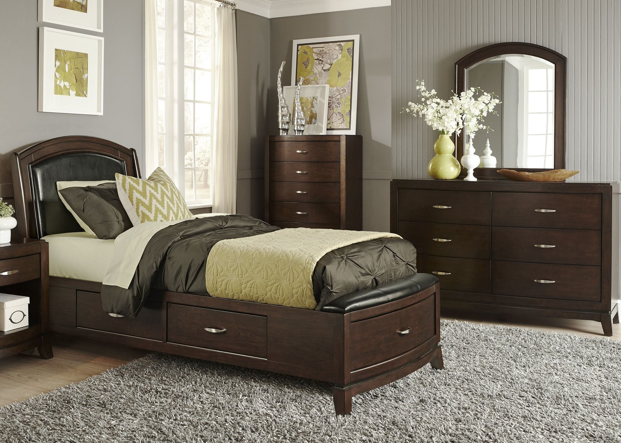 Avalon Truffle Youth One Sided Leather Storage Bedroom Set. Avalon From  Liberty
