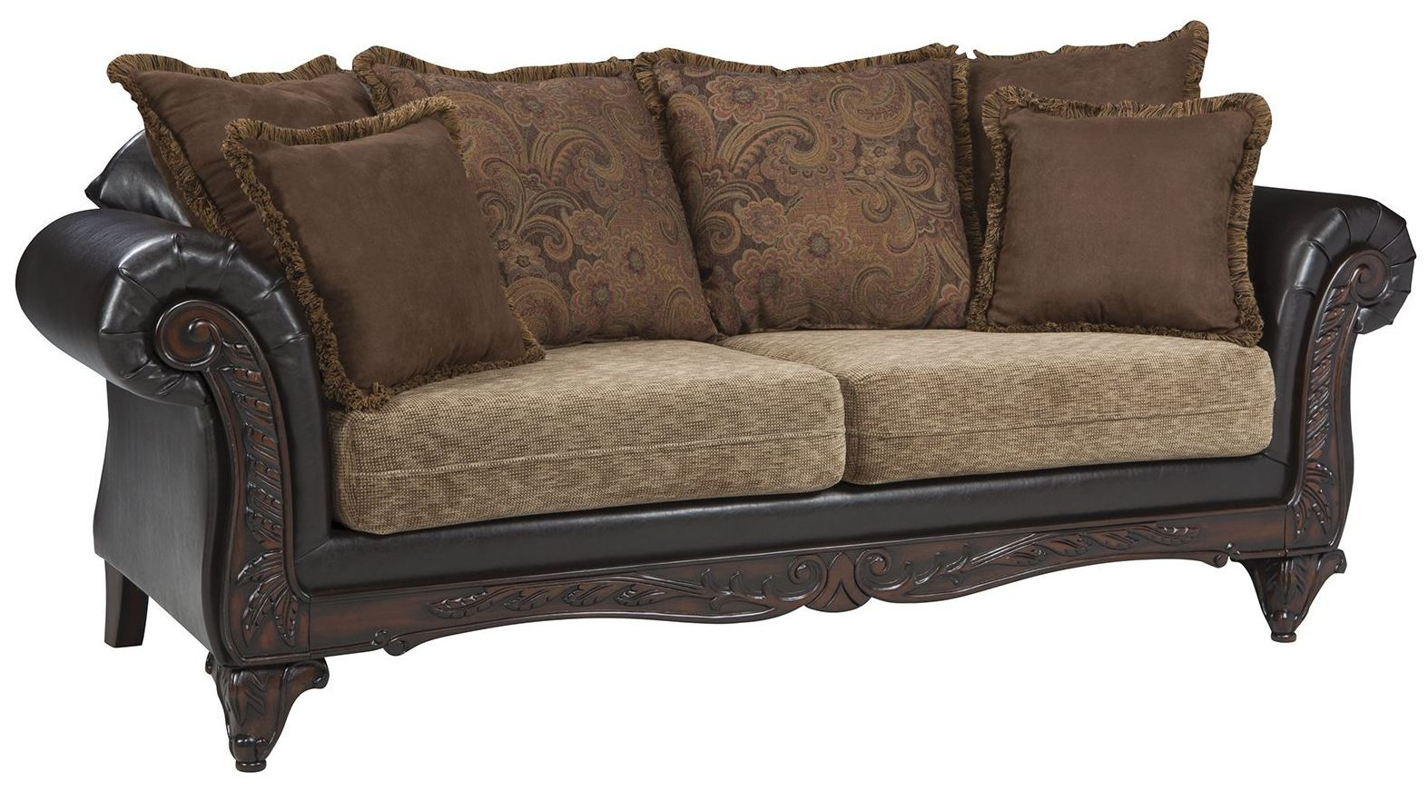 garroway russet chocolate sofa from coaster coleman furniture. Black Bedroom Furniture Sets. Home Design Ideas