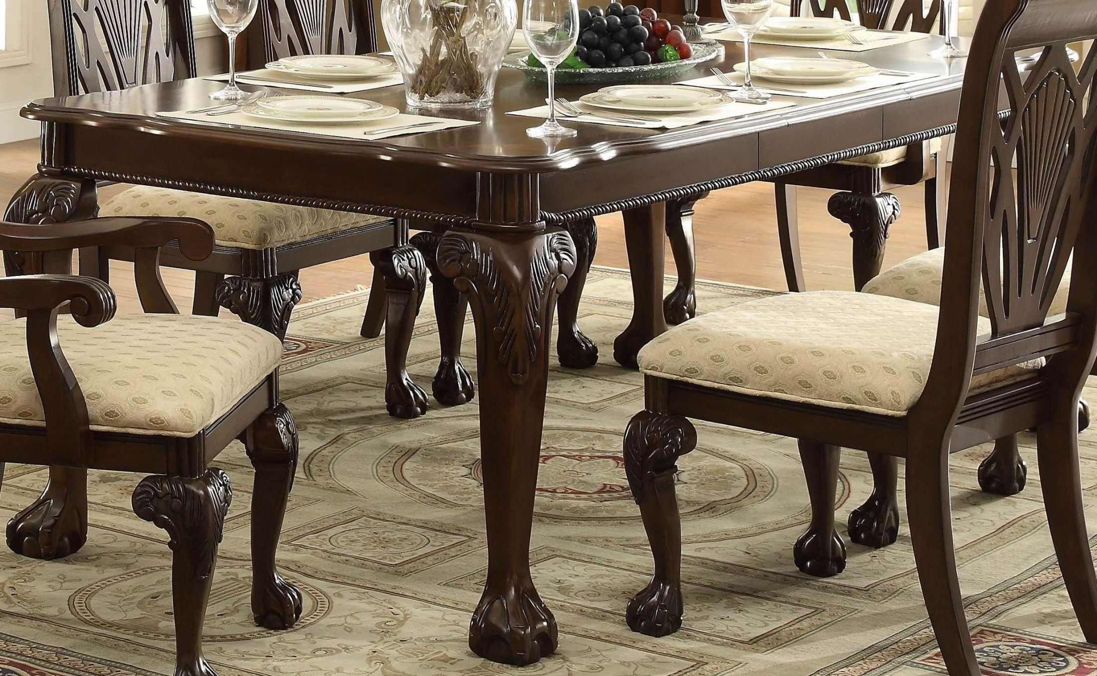 Norwich warm cherry leg dining table from homelegance for One leg dining table